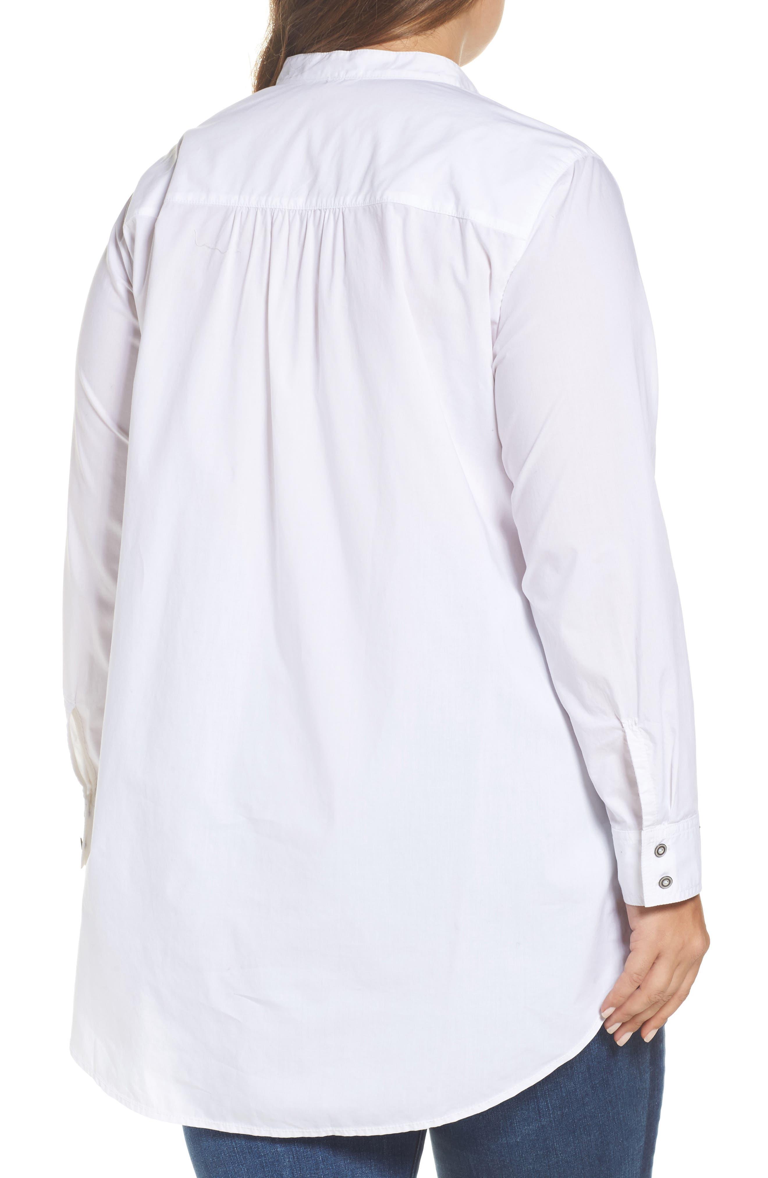 Alternate Image 2  - Caslon® Popover Shirt (Plus Size)