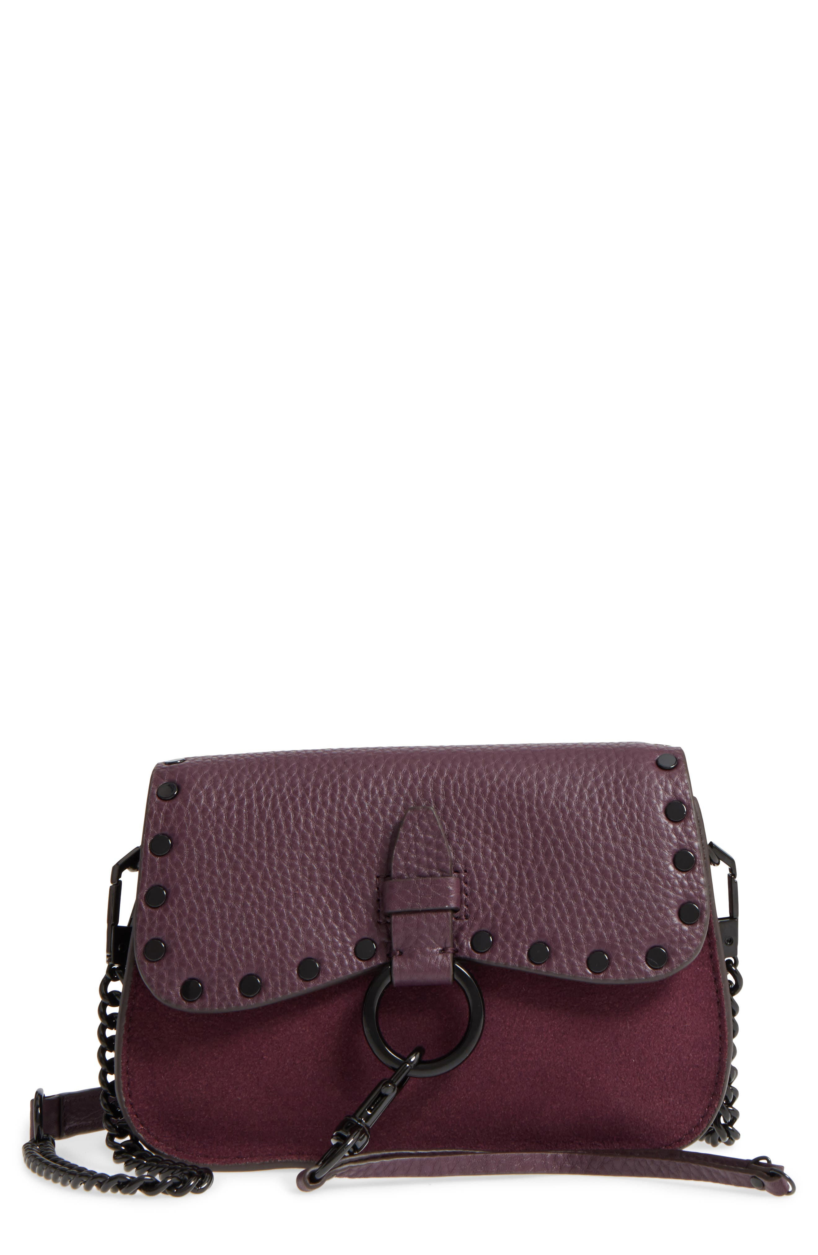 Rebecca Minkoff Small Keith Suede & Leather Saddle Bag
