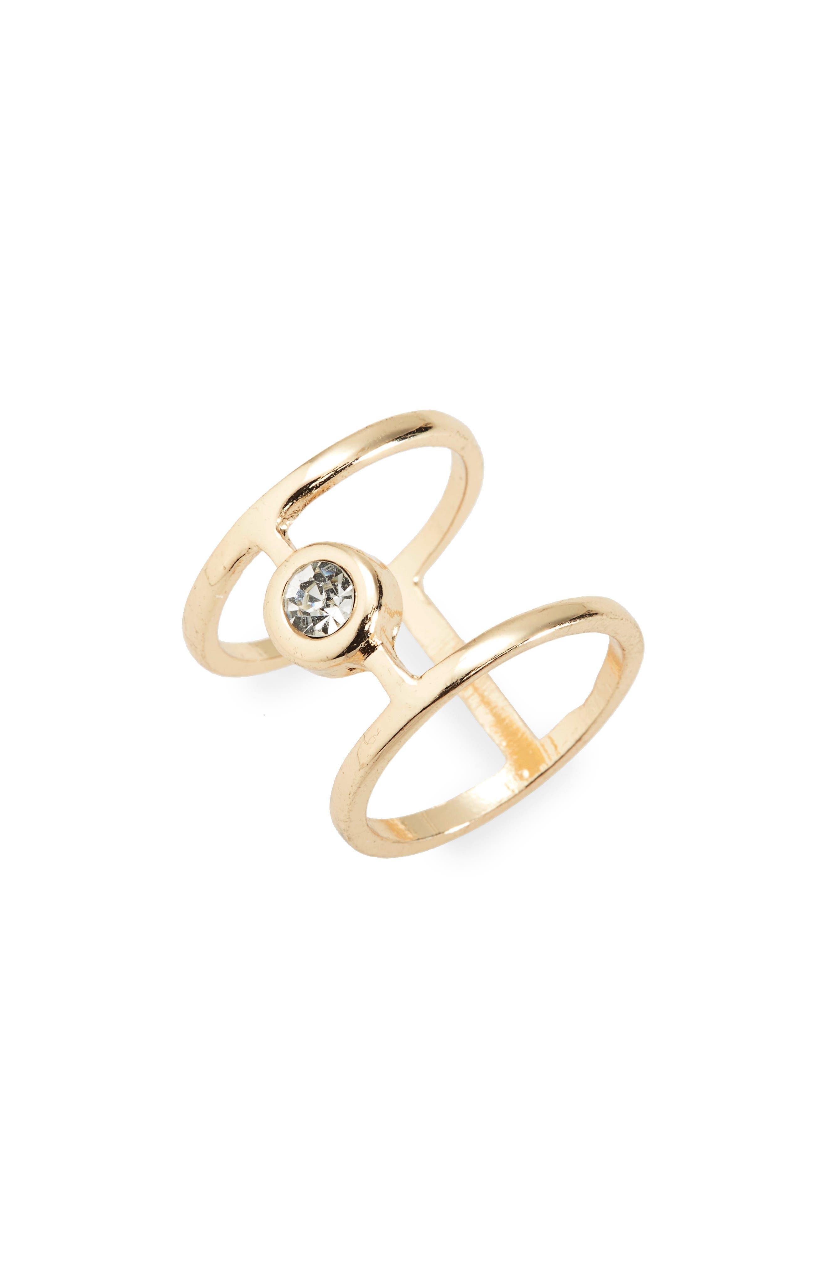 BP. Crystal Two Bar Ring