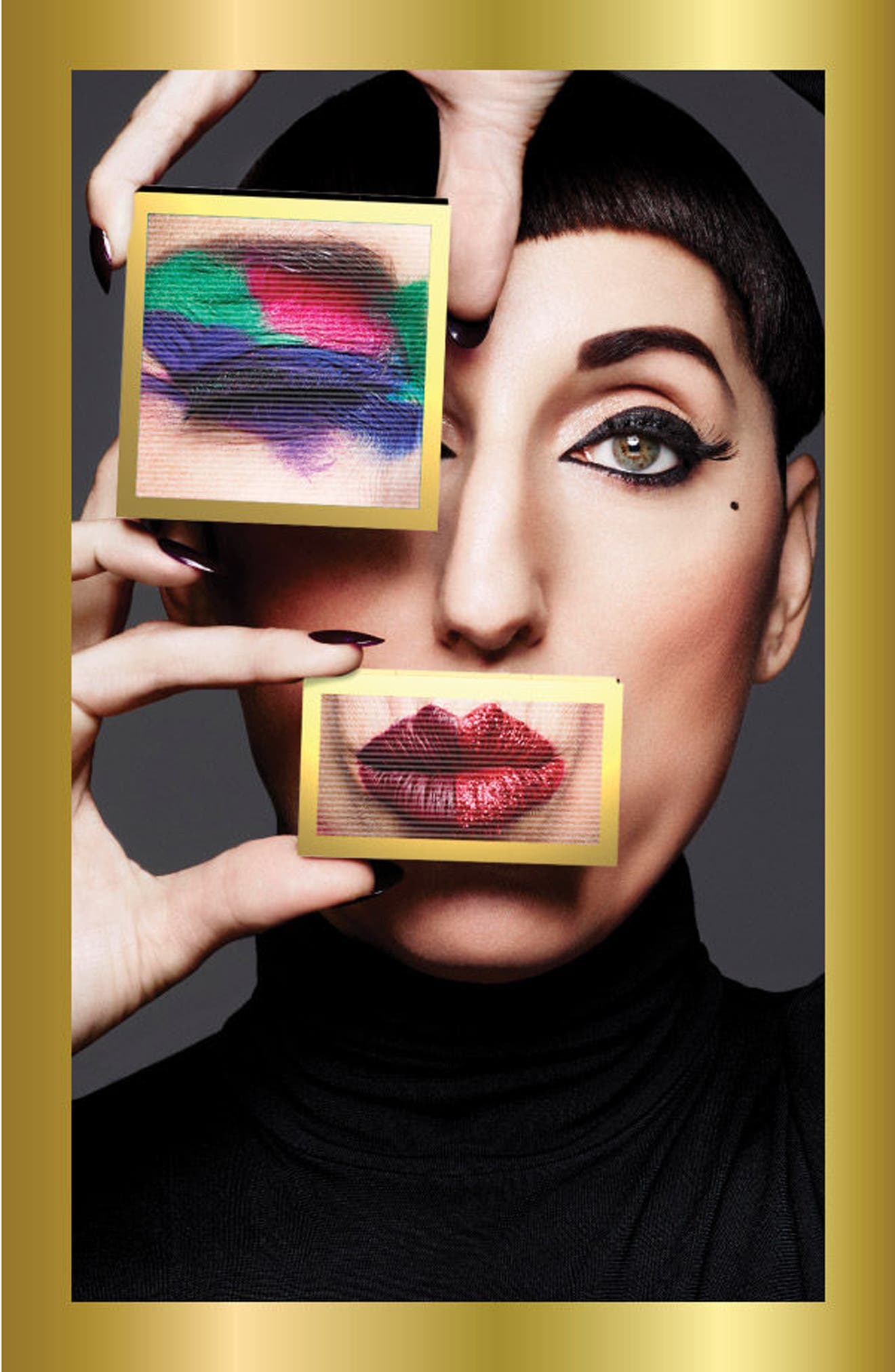 MAC Rossy de Palma Veluxe Pearlfusion Eyeshadow Palette,                             Alternate thumbnail 6, color,                             Colours On The Verge