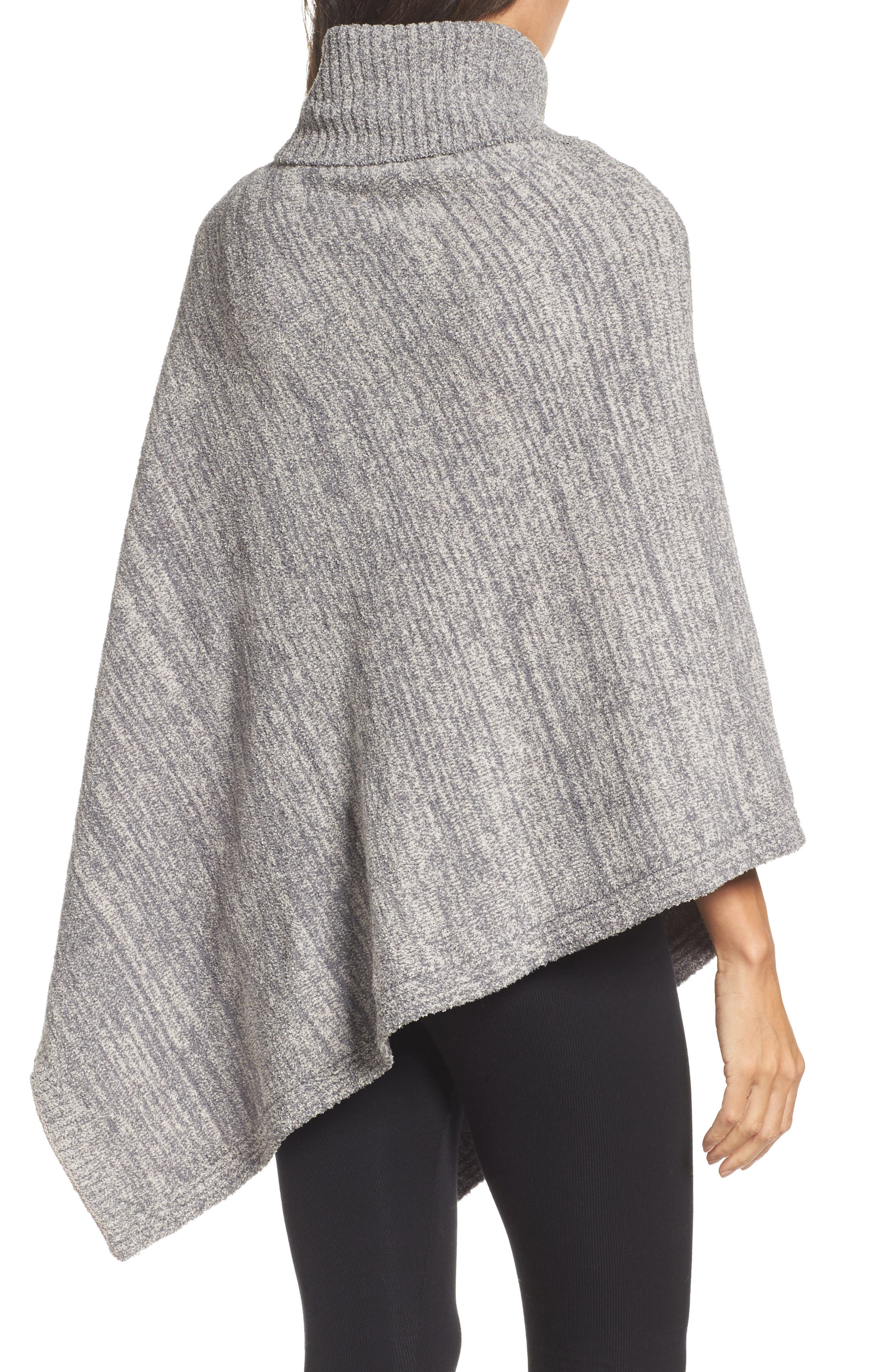 Cozychic<sup>®</sup> Point Dume Poncho,                             Alternate thumbnail 2, color,                             Graphite/ Stone Heathered