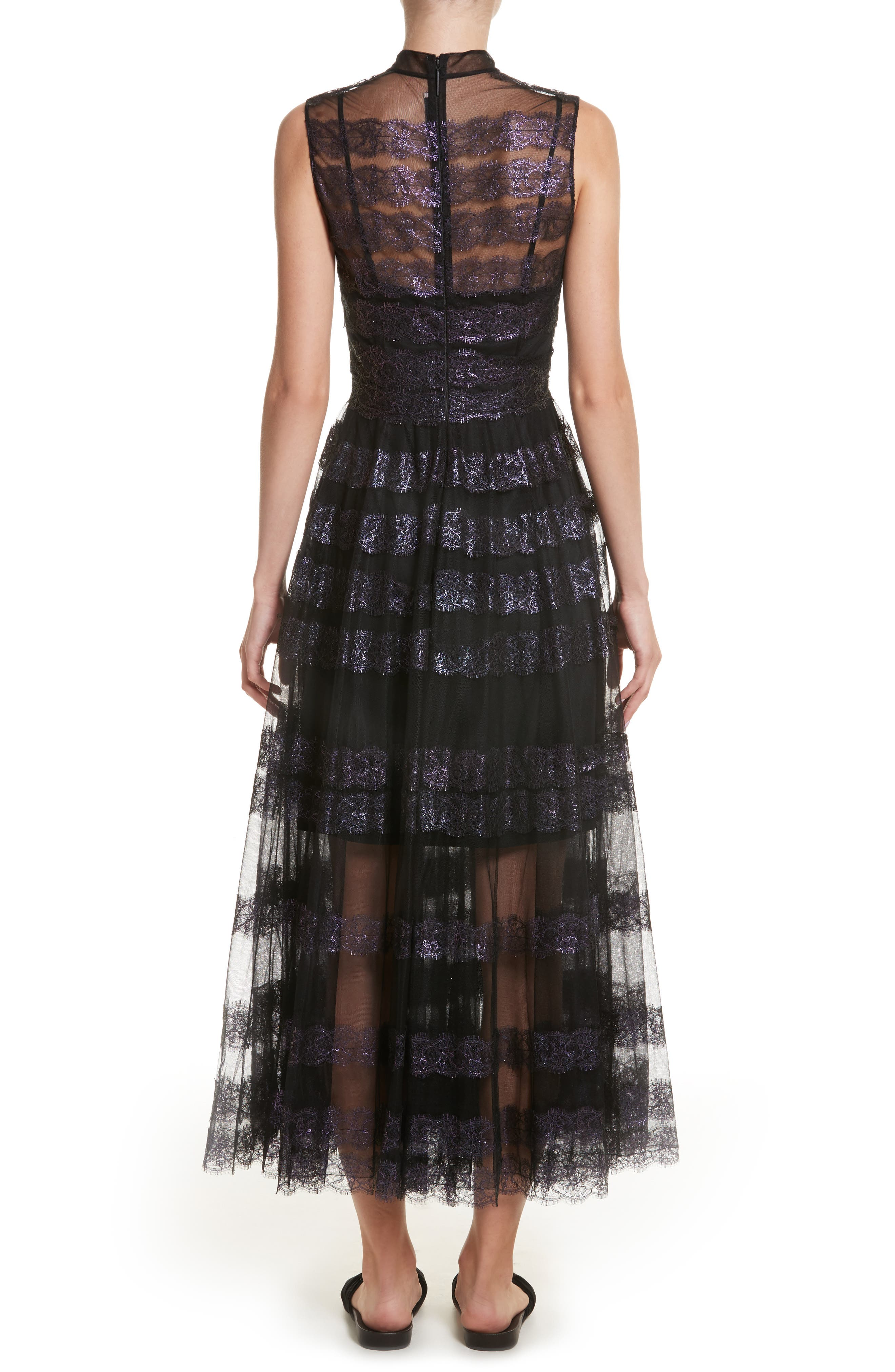 Alternate Image 2  - Christopher Kane Foiled Lace & Tulle Dress