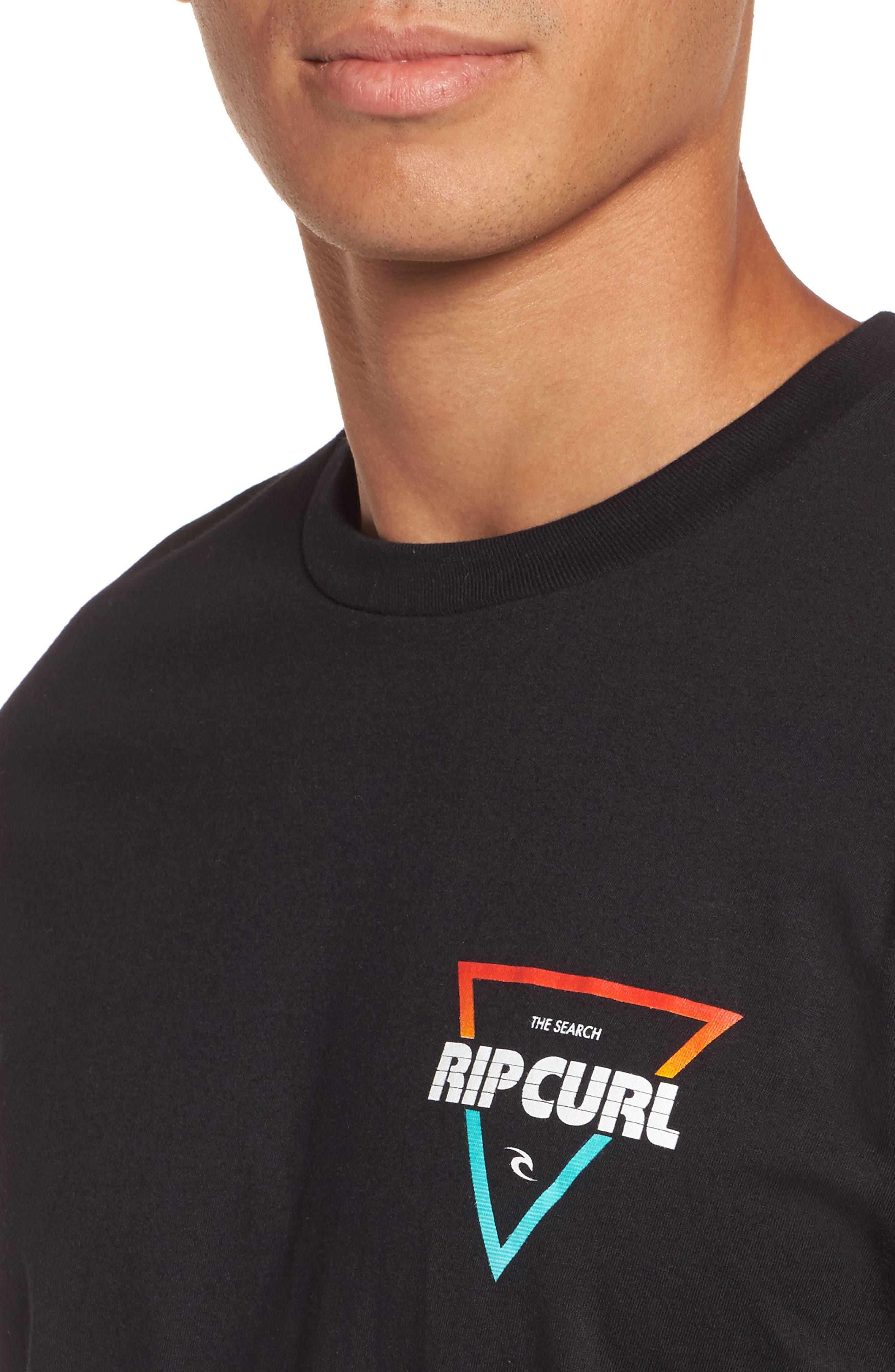 The Edge Premium Graphic T-Shirt,                             Alternate thumbnail 4, color,                             Black