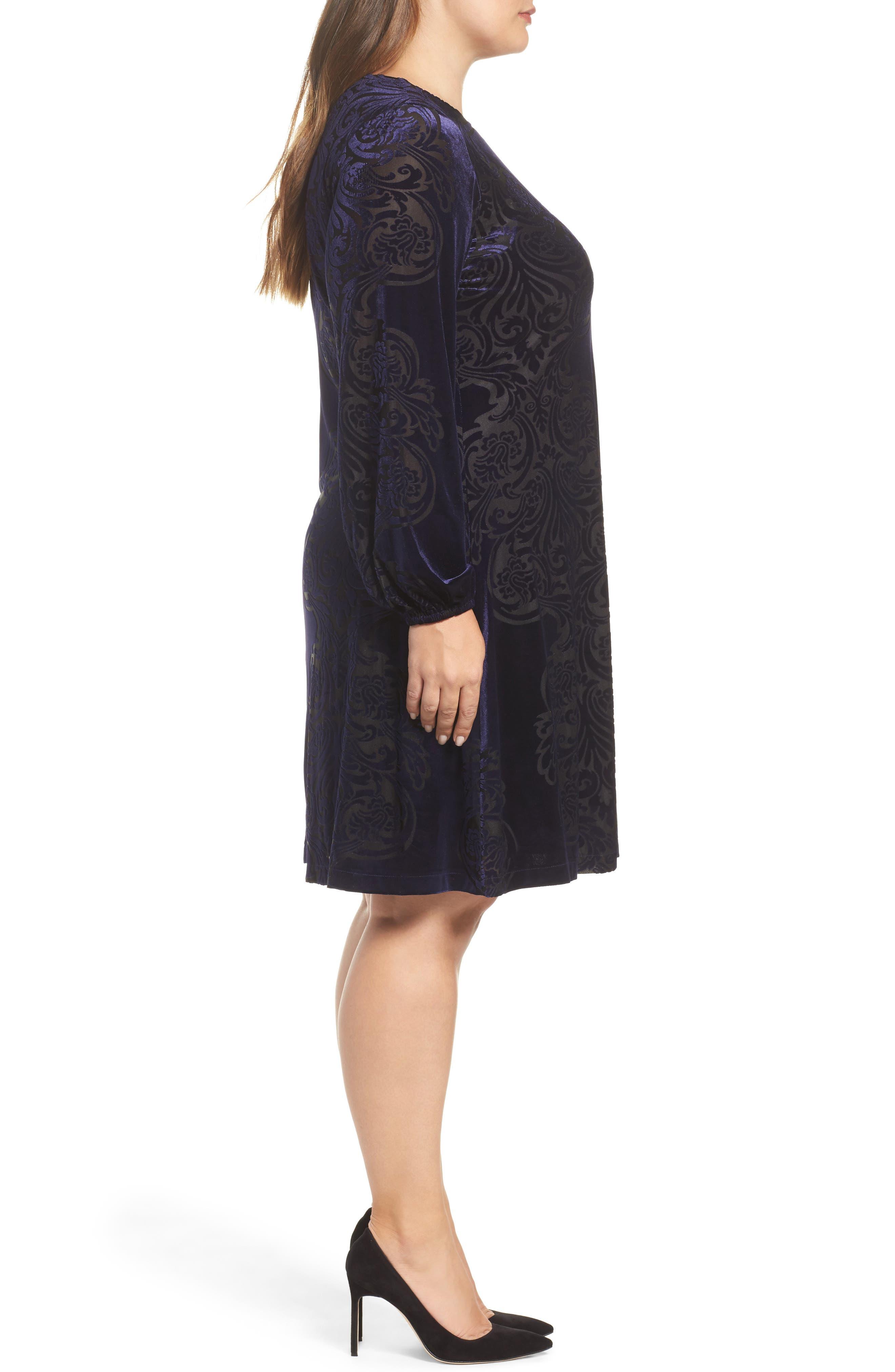 Alternate Image 3  - Eliza J Burnout Velvet Shift Dress (Plus Szie)