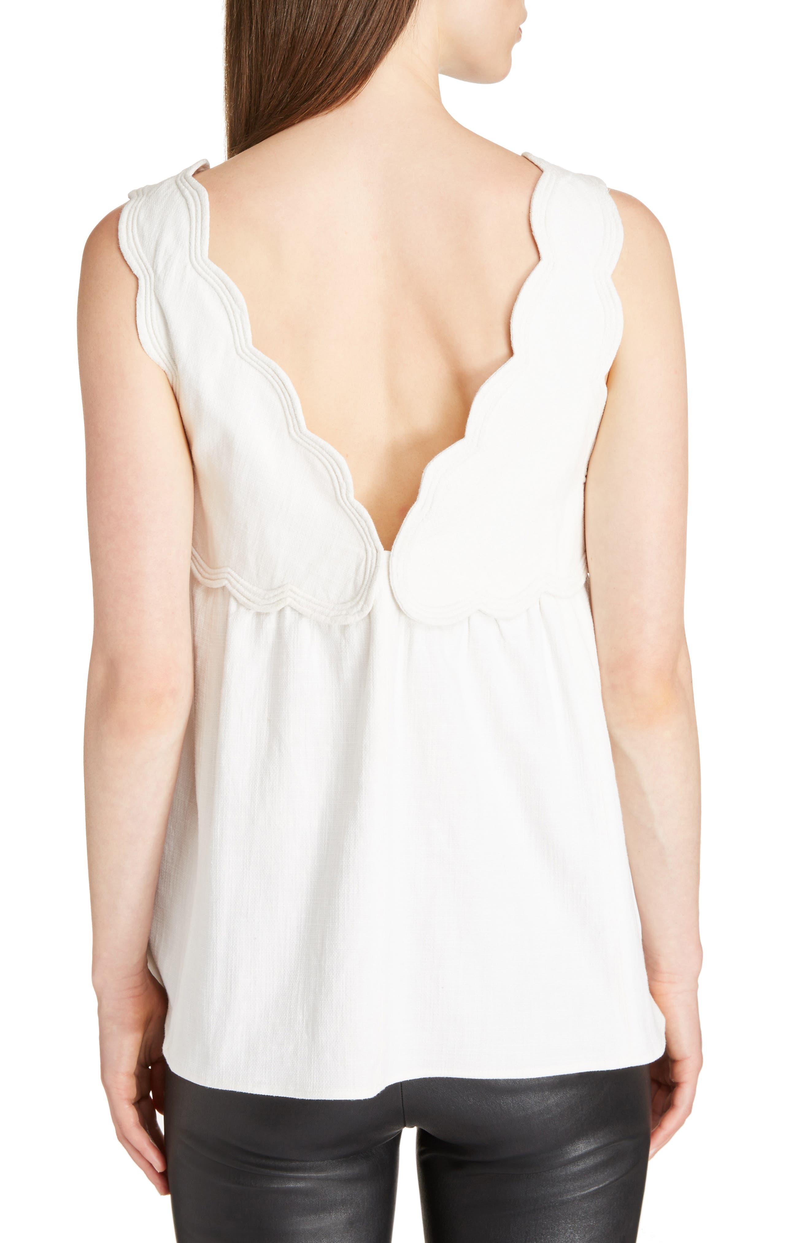 Alternate Image 2  - Isabel Marant Wigstone Scallop Neck Cotton Top