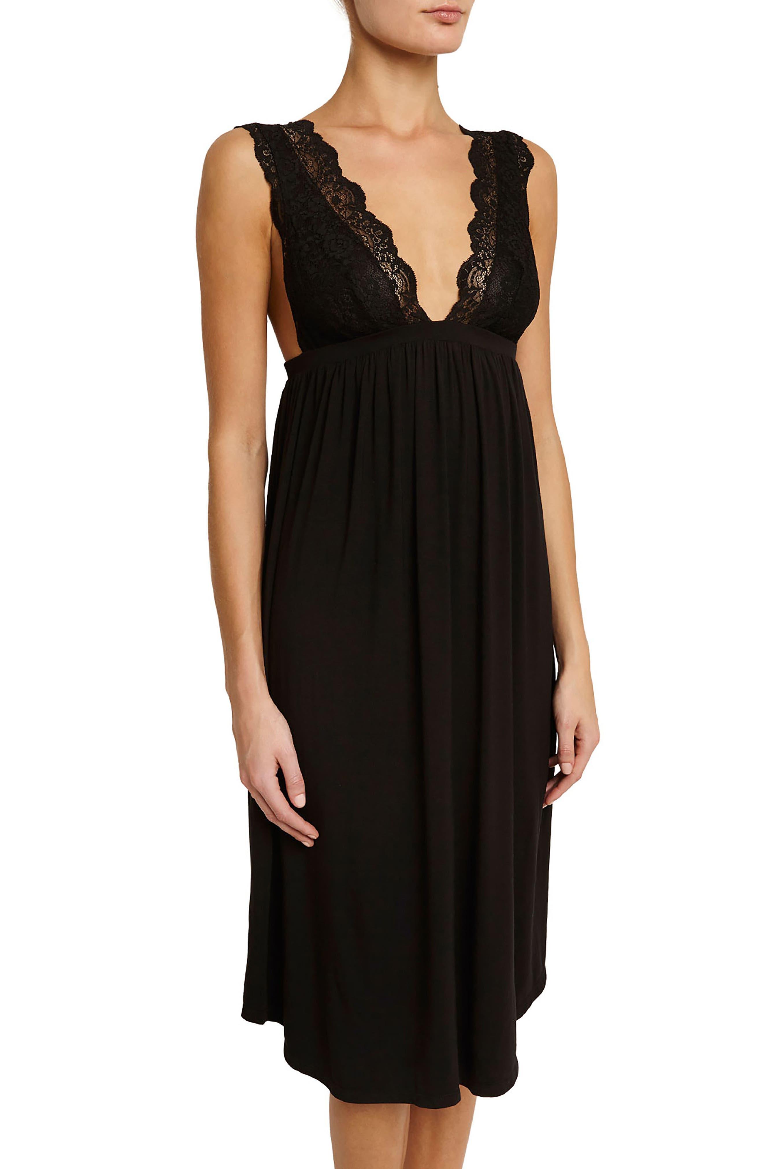 Ariza Nightgown,                         Main,                         color, Black