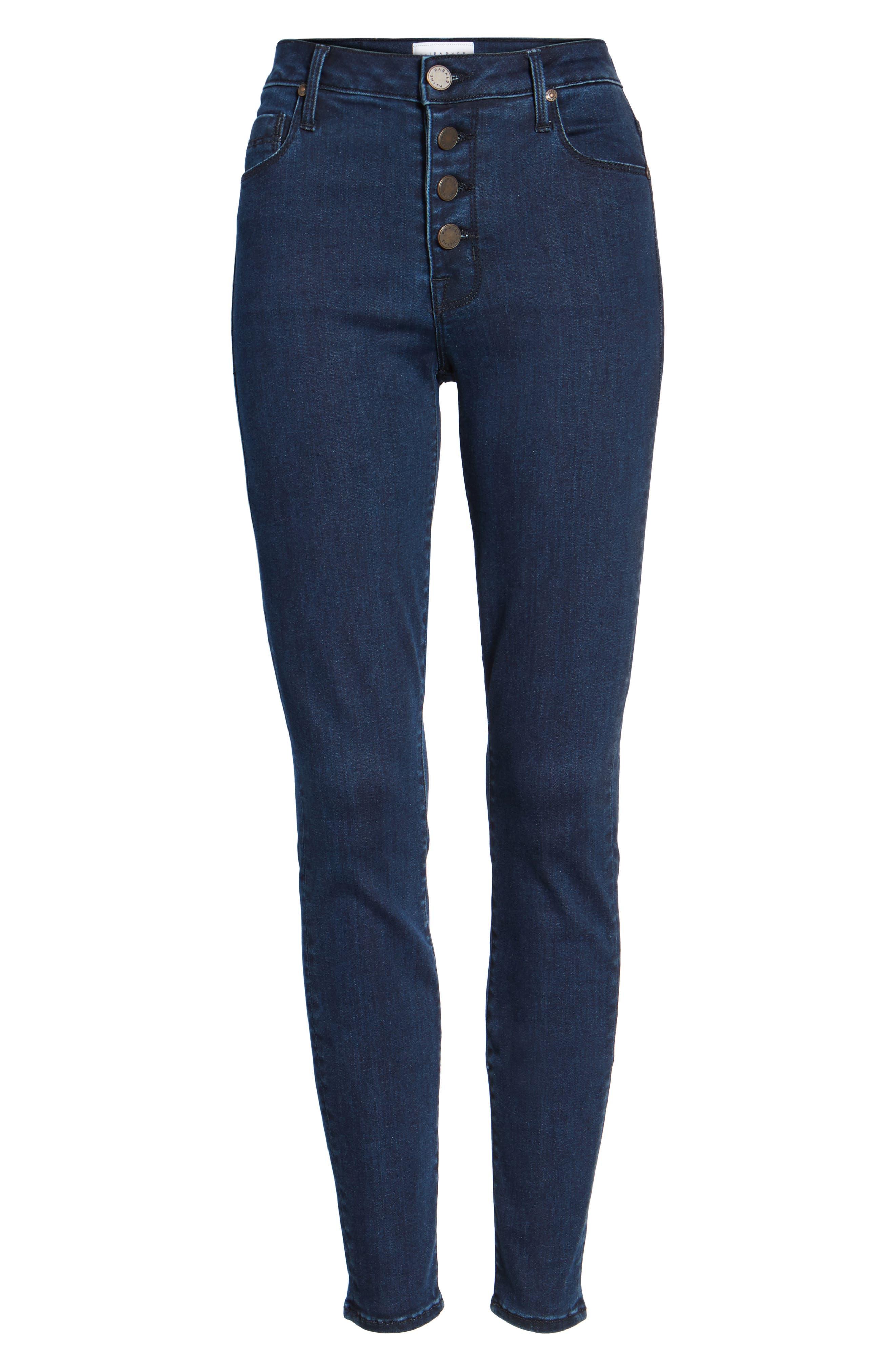 Alternate Image 6  - Parker Smith Bombshell High Waist Skinny Jeans (Sky Line)