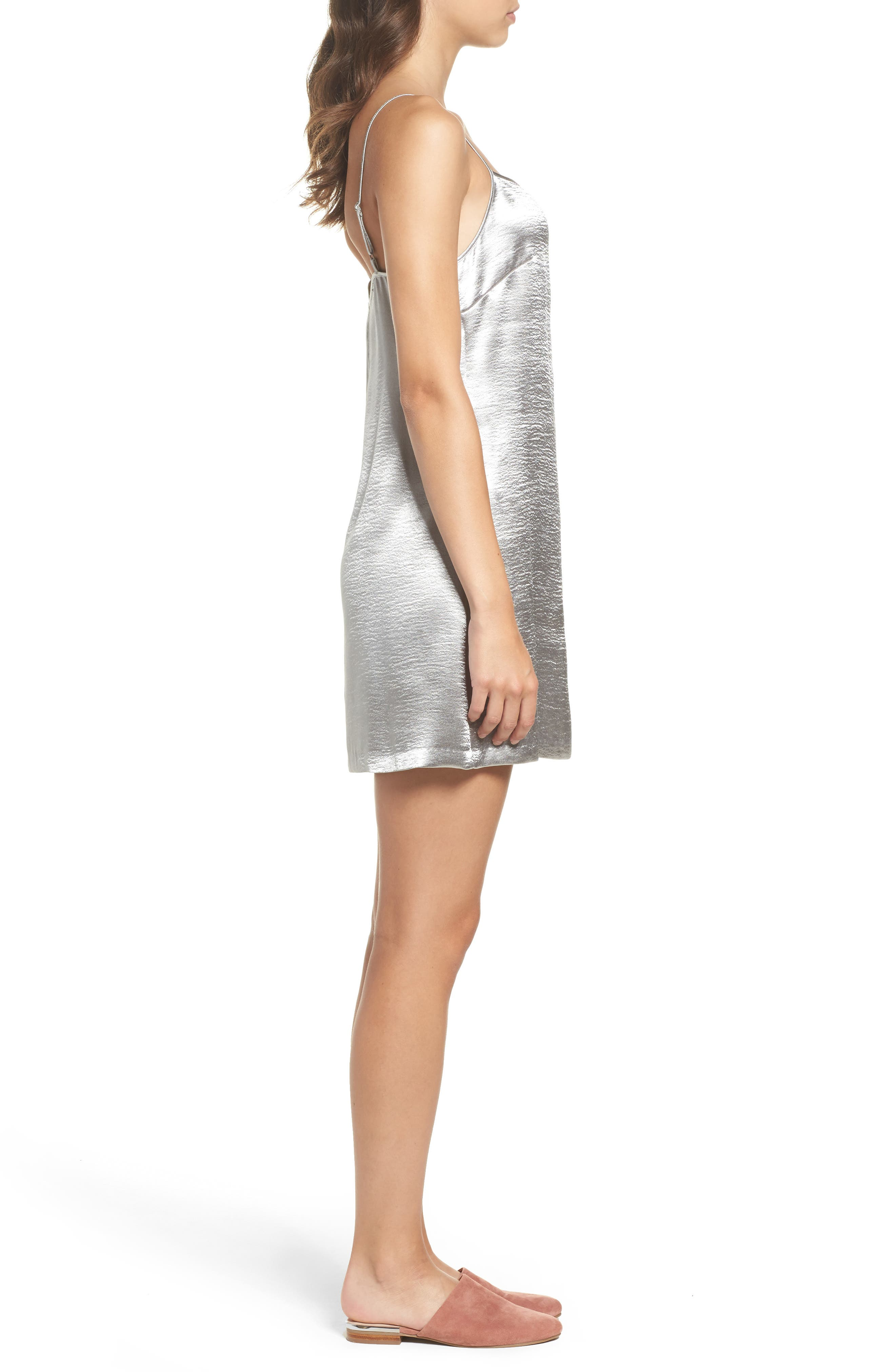 Alternate Image 3  - French Connection Kate Shine Slipdress