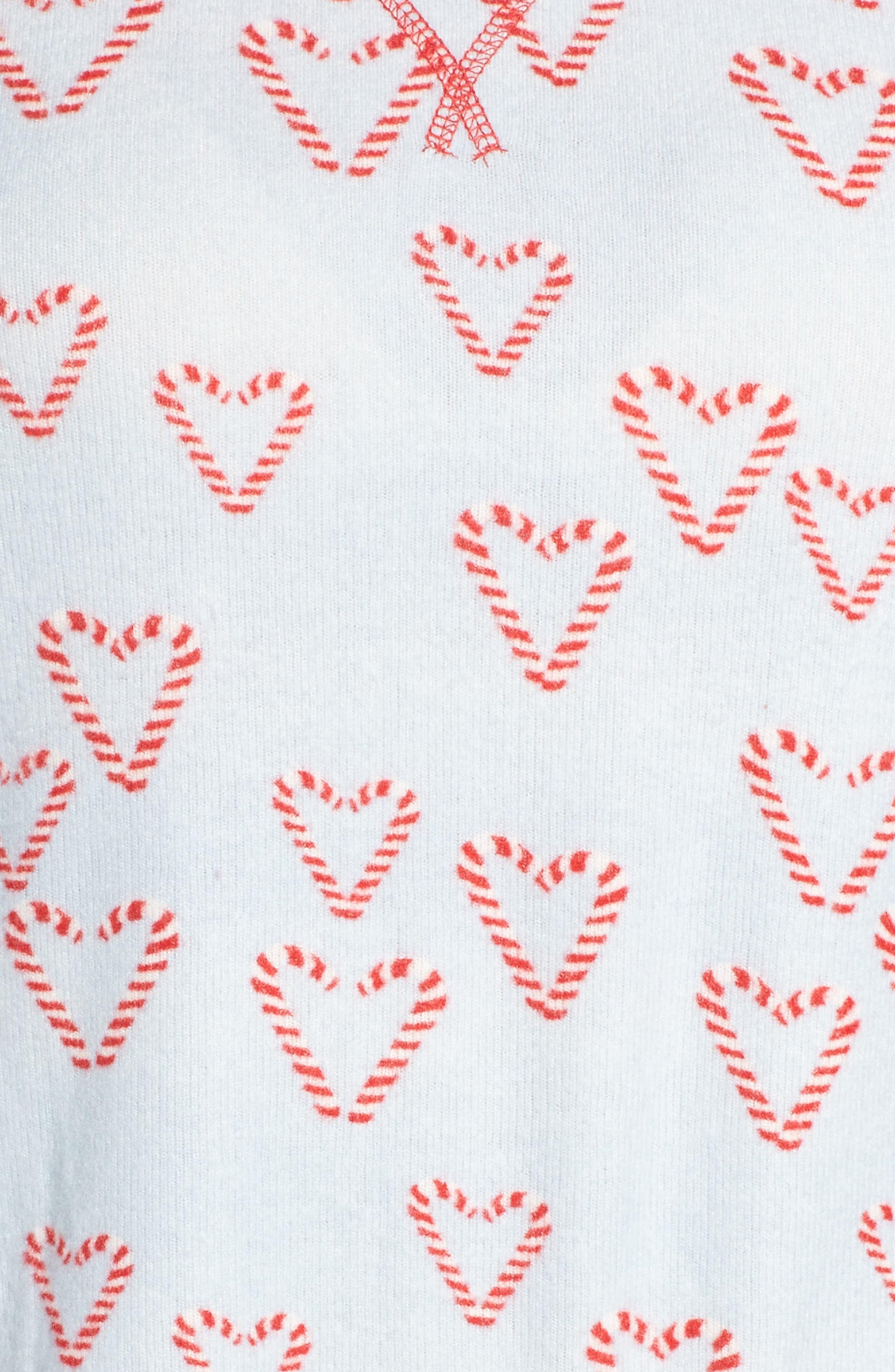 Alternate Image 7  - Make + Model Knit Girlfriend Pajamas & Eye Mask