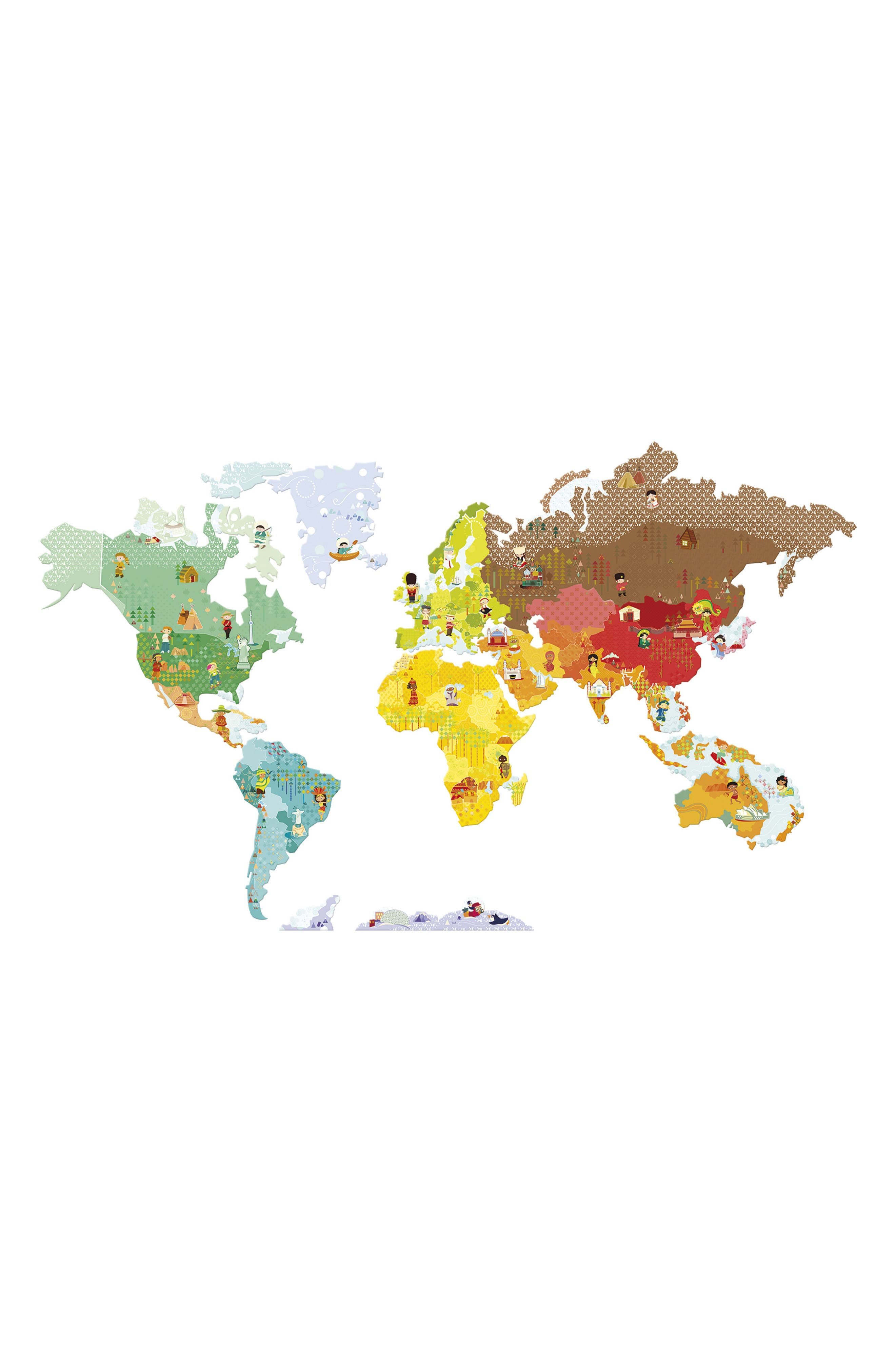 World Wall Magnets,                         Main,                         color, Multi