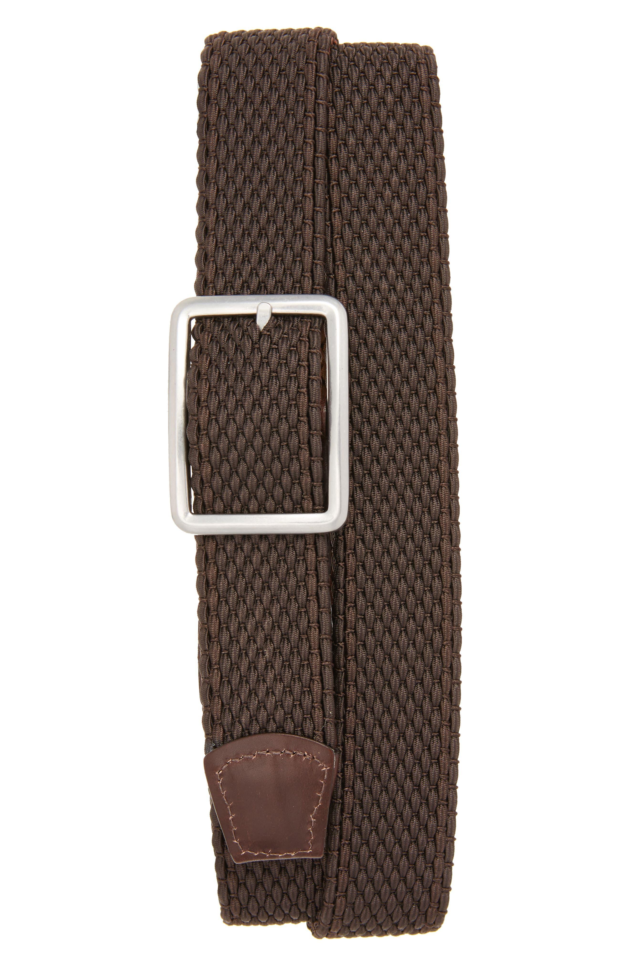 Tri Stripe Reversible Woven Belt,                             Alternate thumbnail 2, color,                             Espresso/ Cocoa/ Coffee