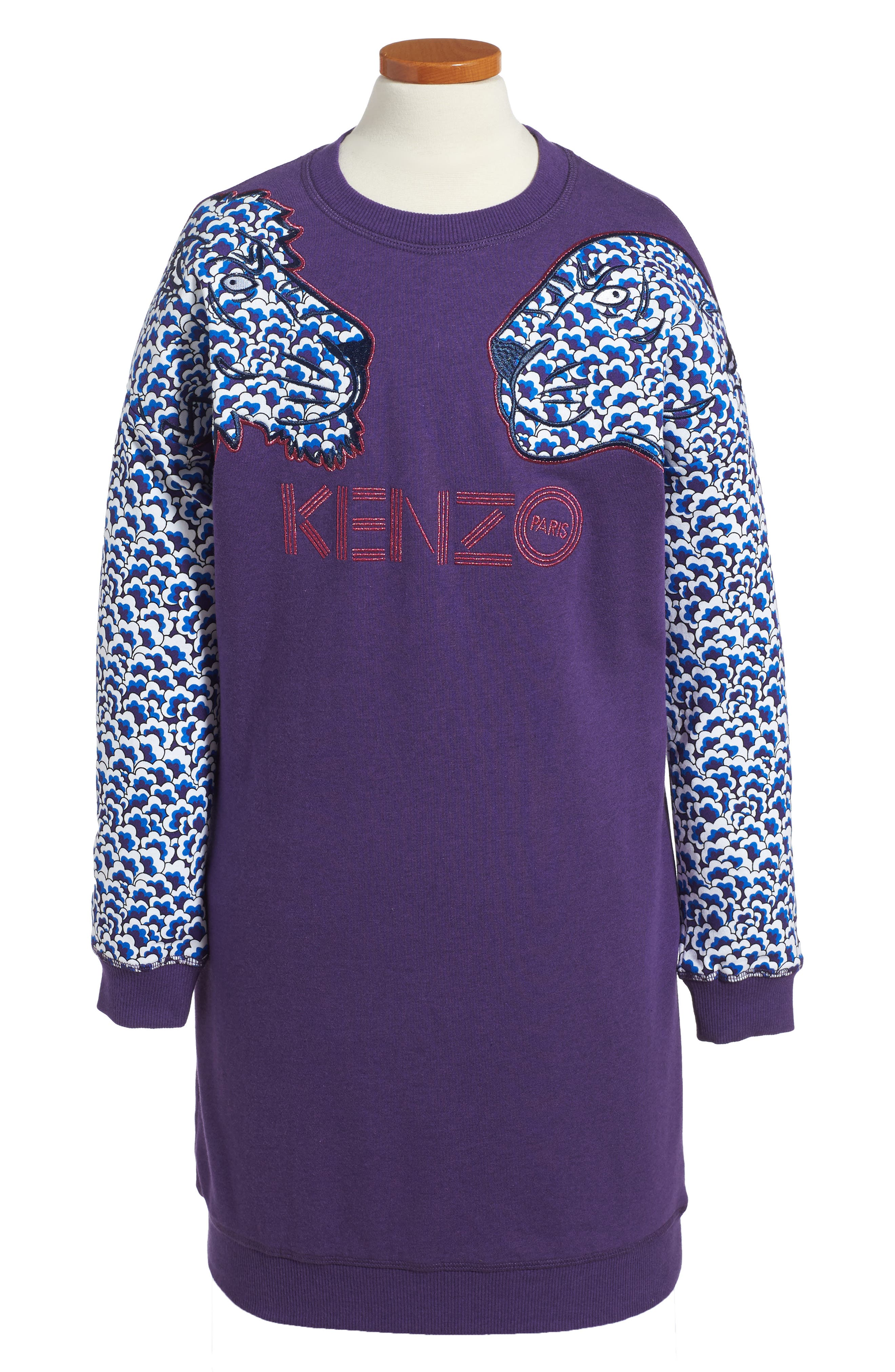 KENZO Tiger Sleeve Sweatshirt Dress (Toddler Girls, Little Girls & Big Girls)