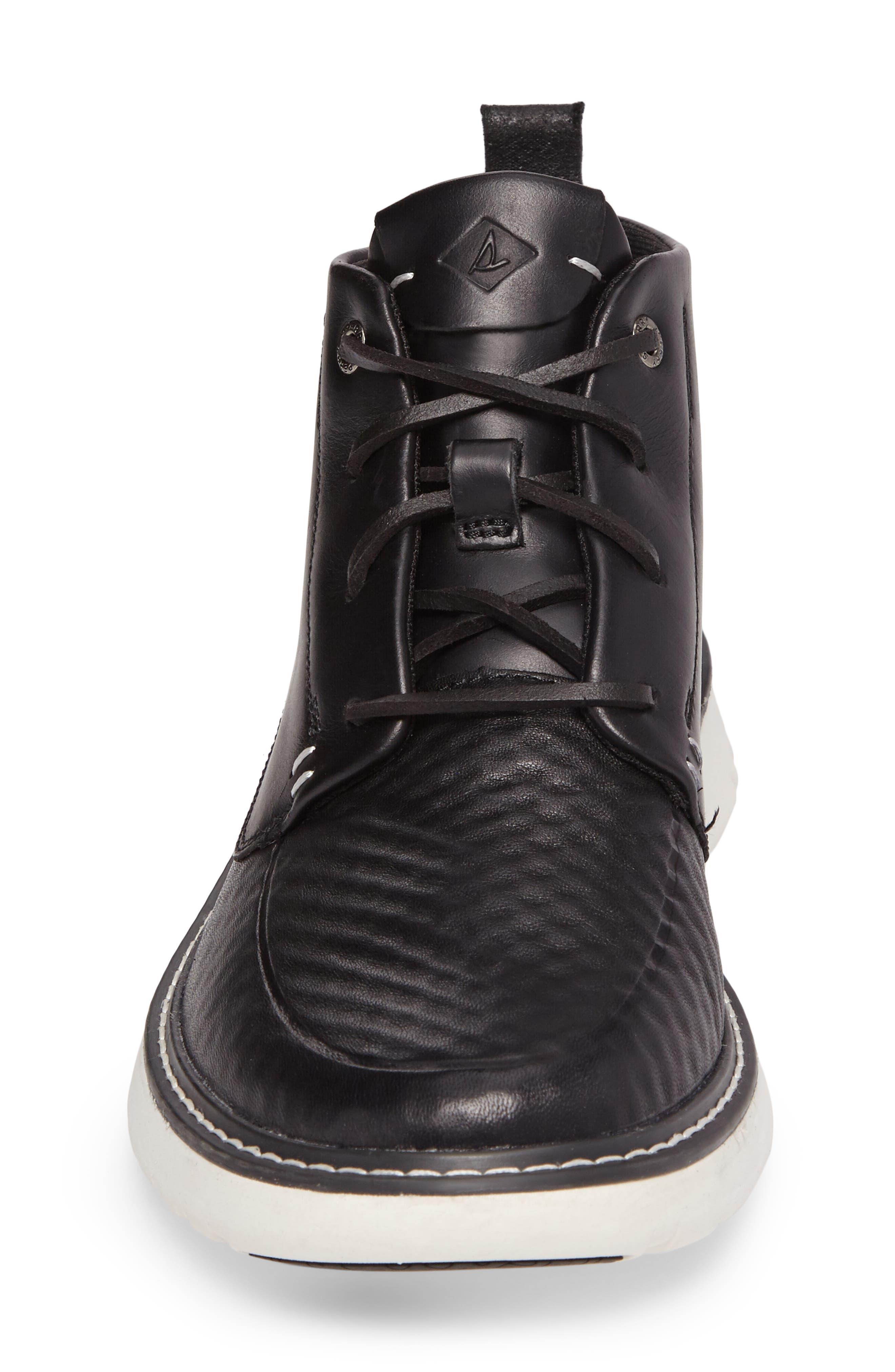 Element Chukka Boot,                             Alternate thumbnail 4, color,                             Black Leather