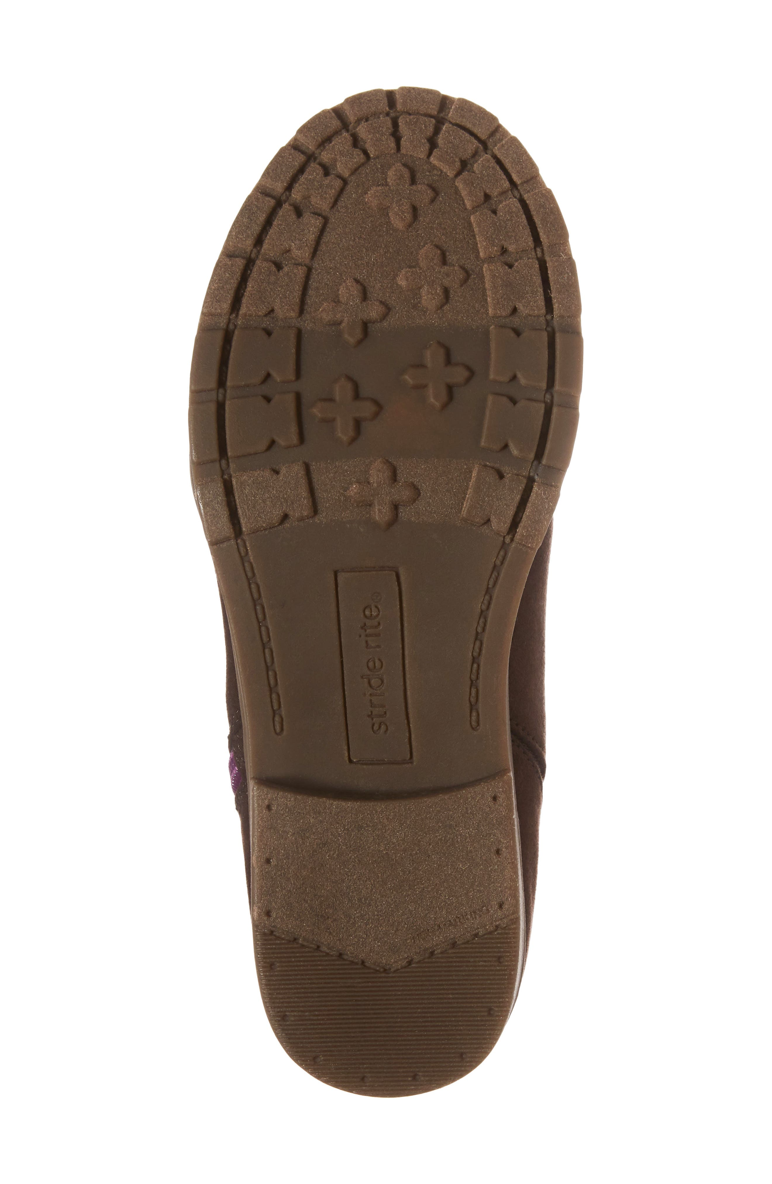 Lucy Zip Bootie,                             Alternate thumbnail 6, color,                             Chocolate