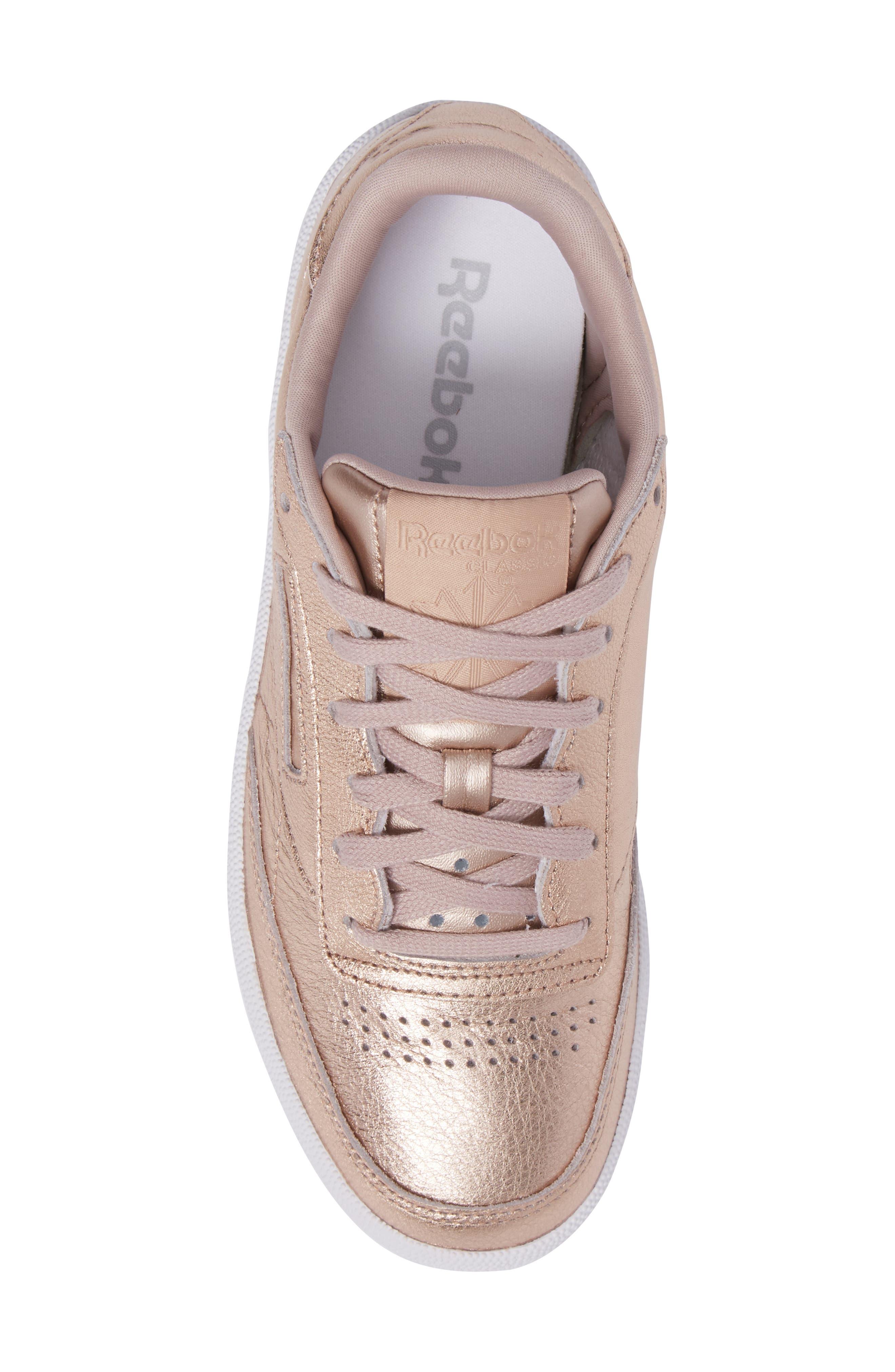 Club C 85 Sneaker,                             Alternate thumbnail 5, color,                             Peach/ White Pearl