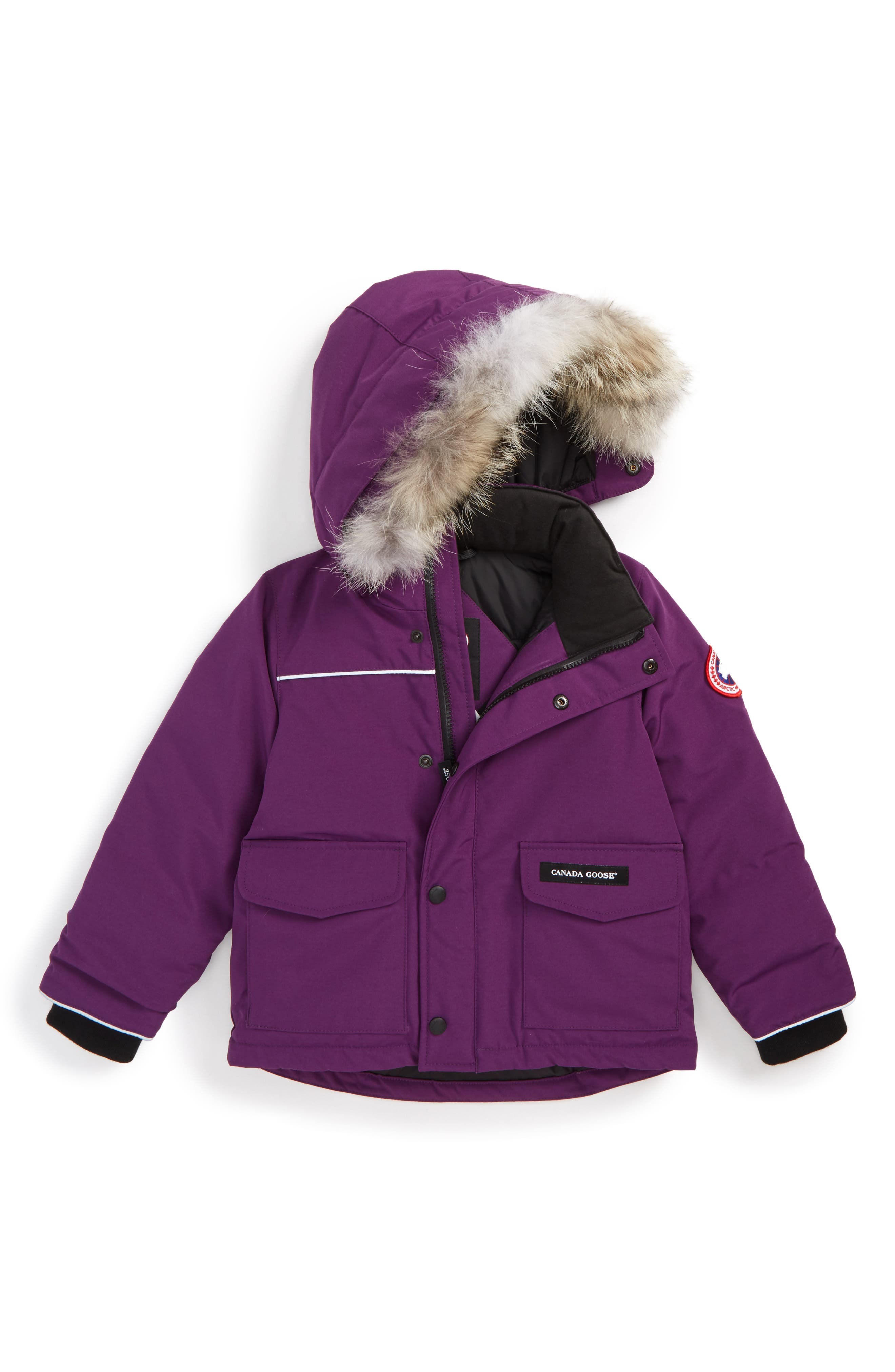Main Image - Canada Goose 'Lynx' Down Parka with Genuine Coyote Fur Trim (Toddler & Little Kids)