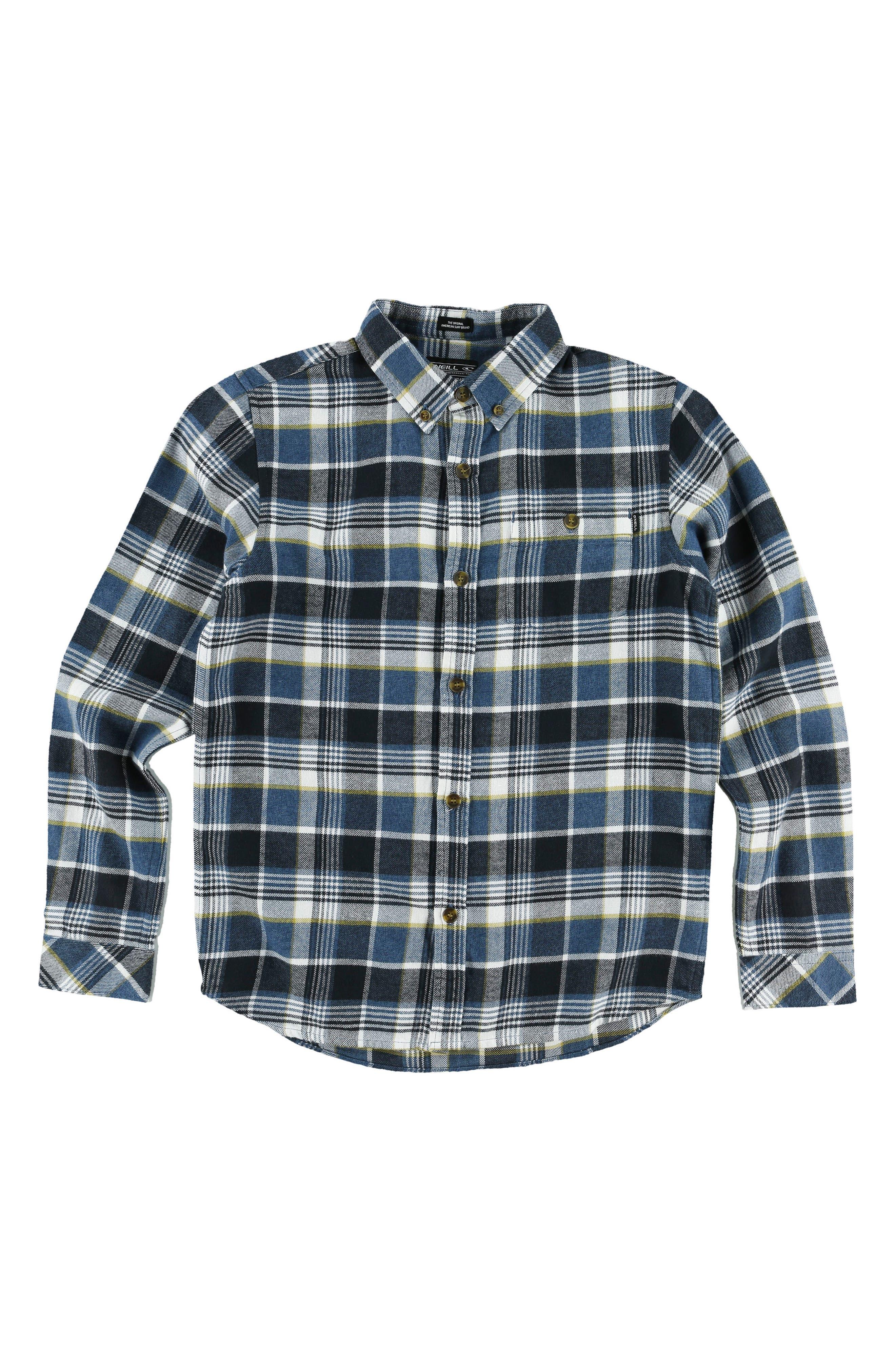 Main Image - O'Neill Redmond Flannel Shirt (Big Boys)