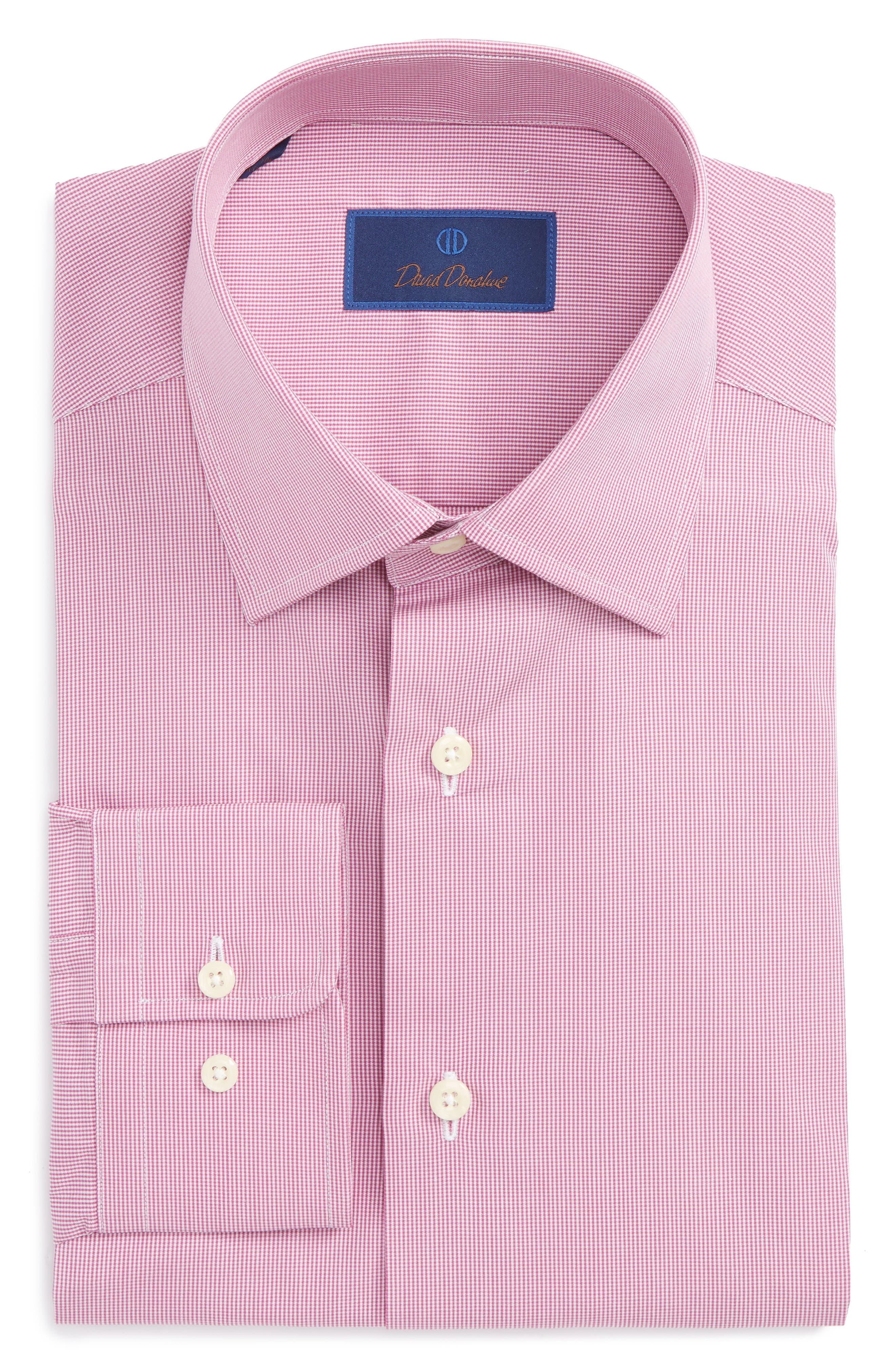 Alternate Image 1 Selected - David Donahue Regular Fit Check Dress Shirt