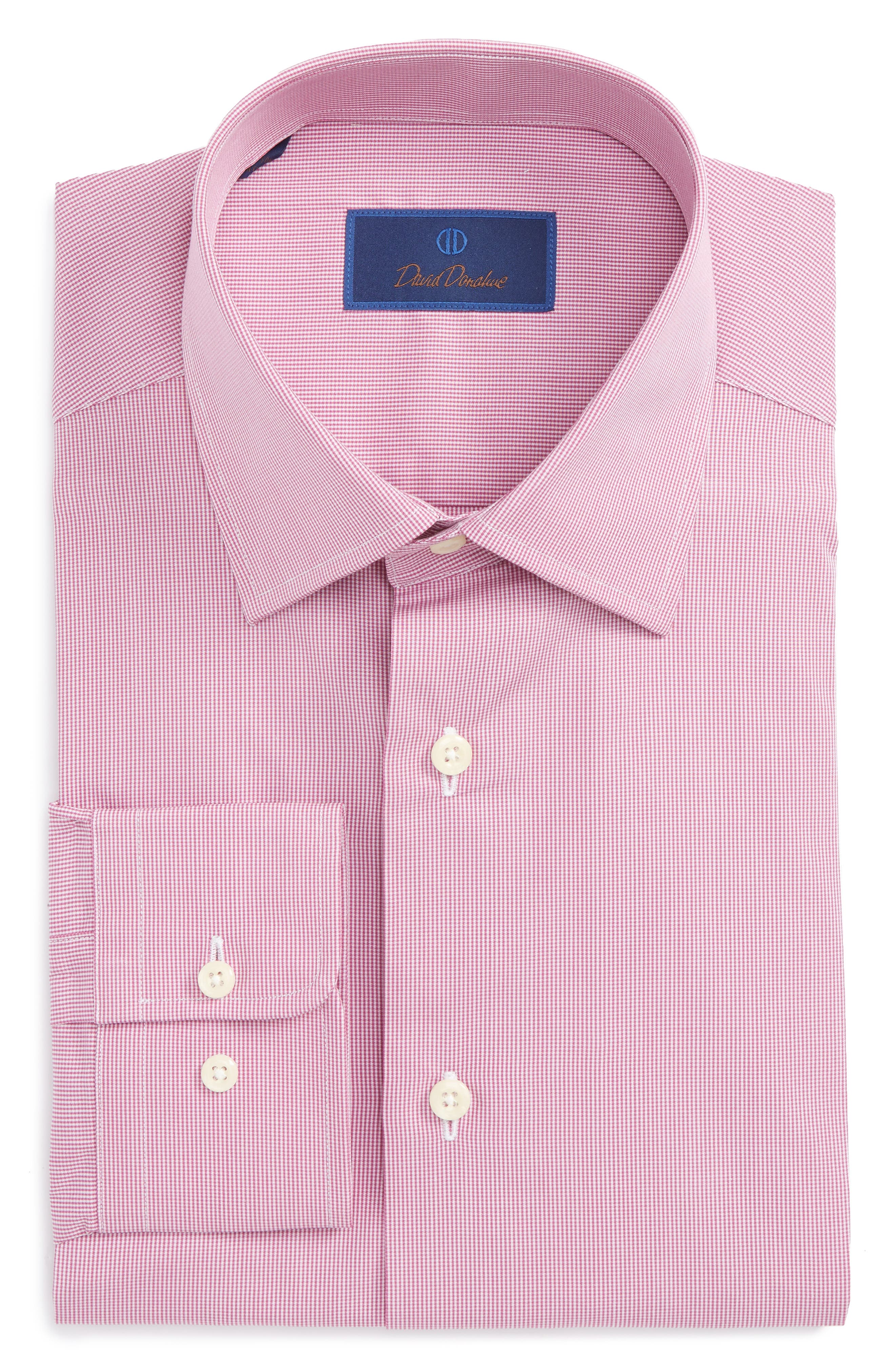Main Image - David Donahue Regular Fit Check Dress Shirt