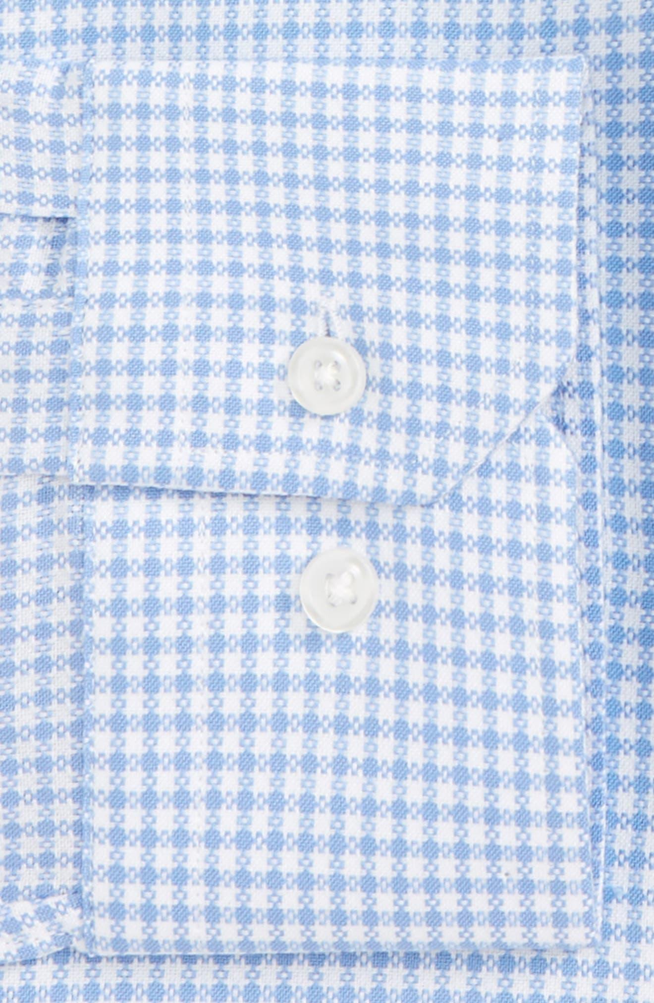 Trim Fit Check Dress Shirt,                             Alternate thumbnail 2, color,                             Blue Bonnet