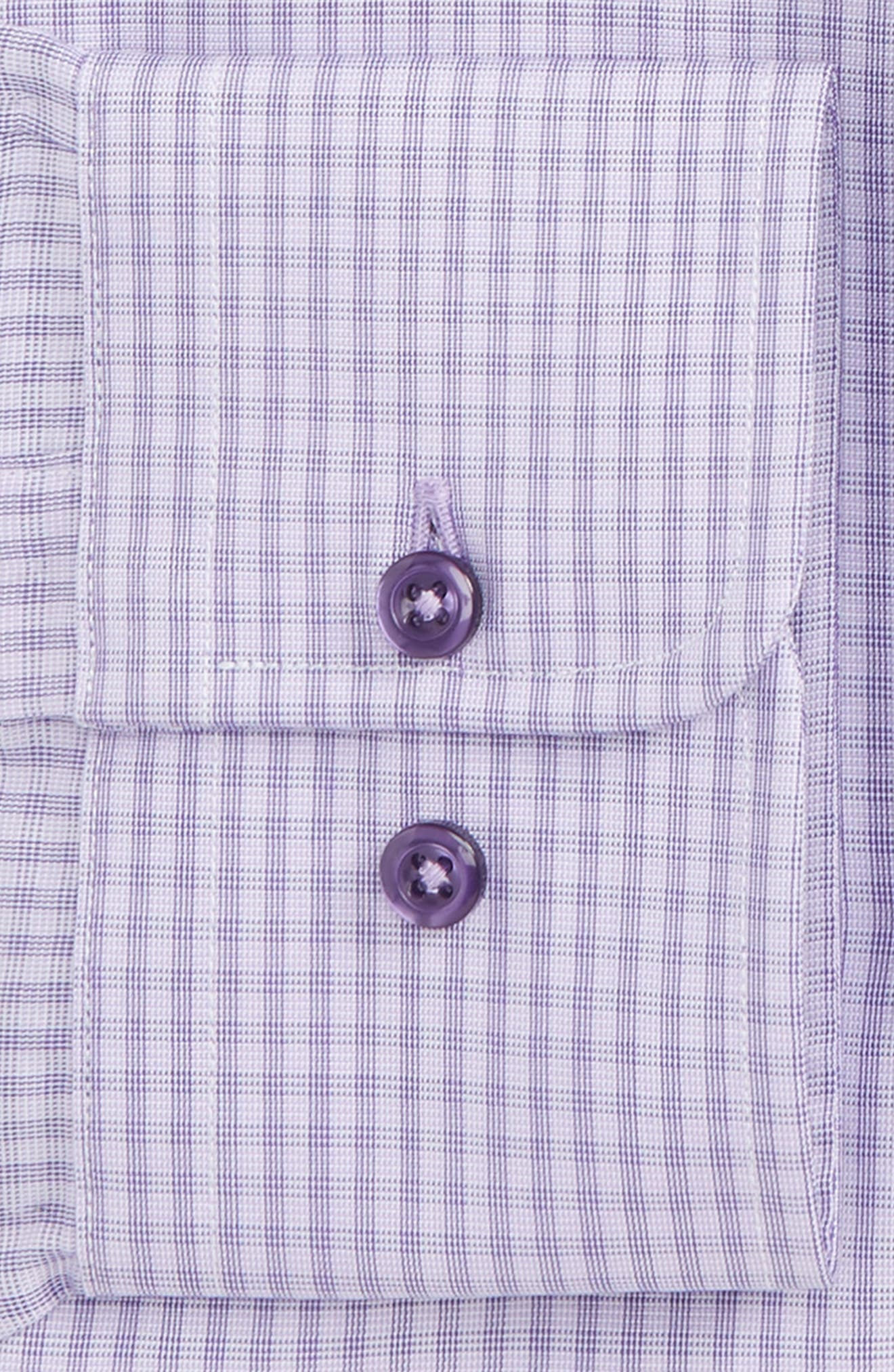 Regular Fit Check Dress Shirt,                             Alternate thumbnail 2, color,                             Lilac