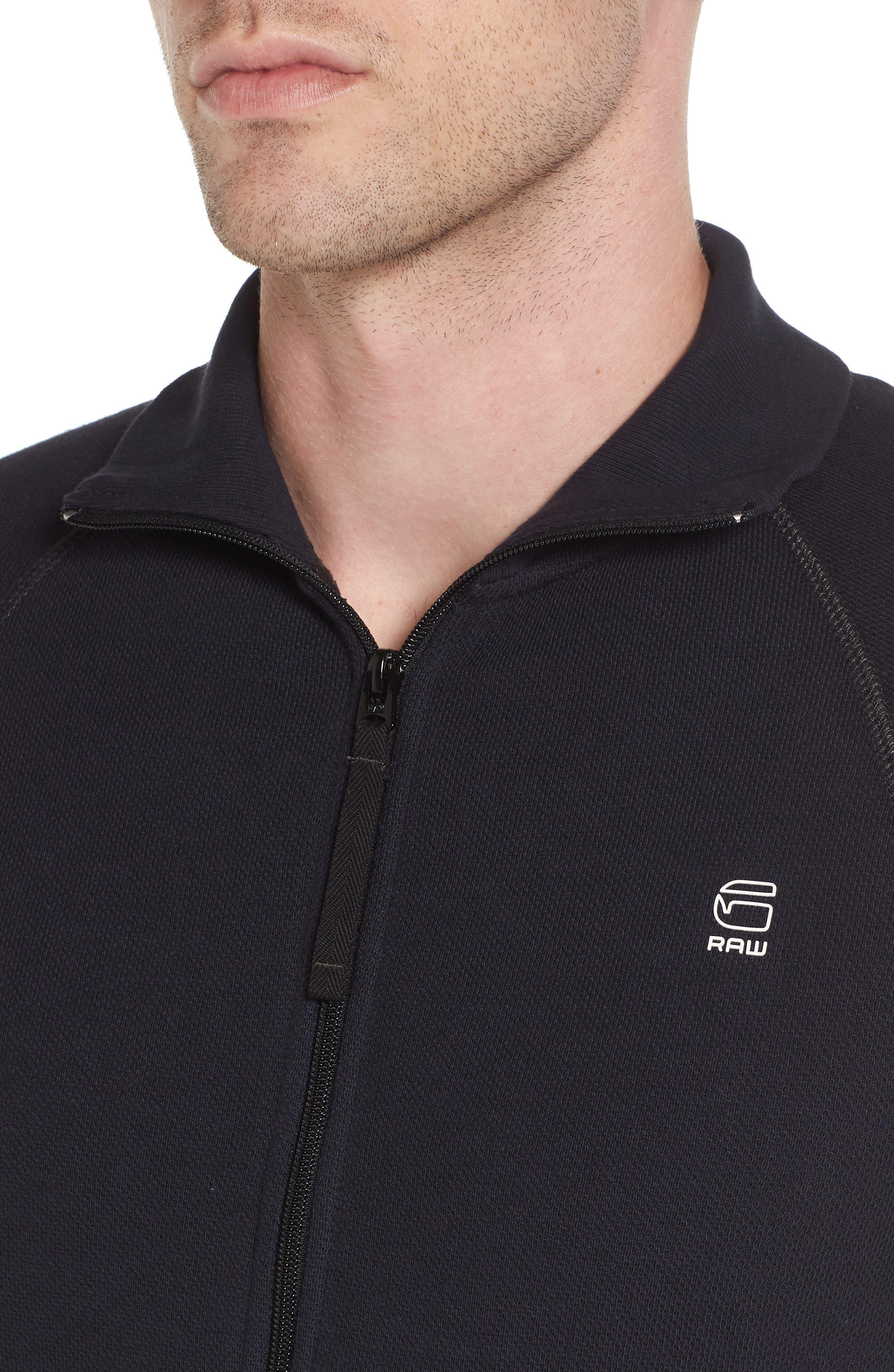 Jirgi Front Zip Sweater,                             Alternate thumbnail 4, color,                             Dark Naval Blue
