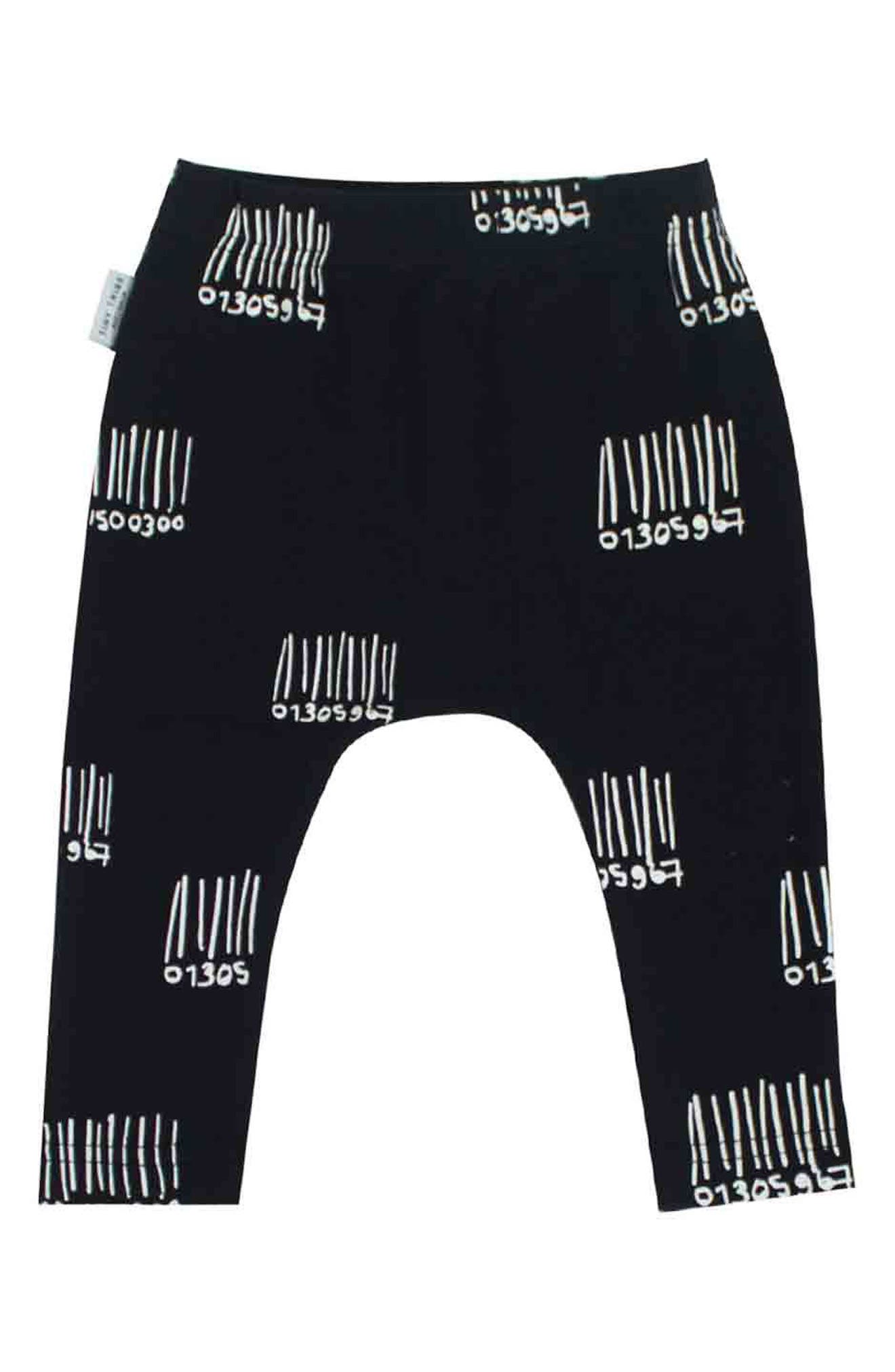 Monster T-Shirt & Leggings Set,                             Alternate thumbnail 3, color,                             Grey/ Black