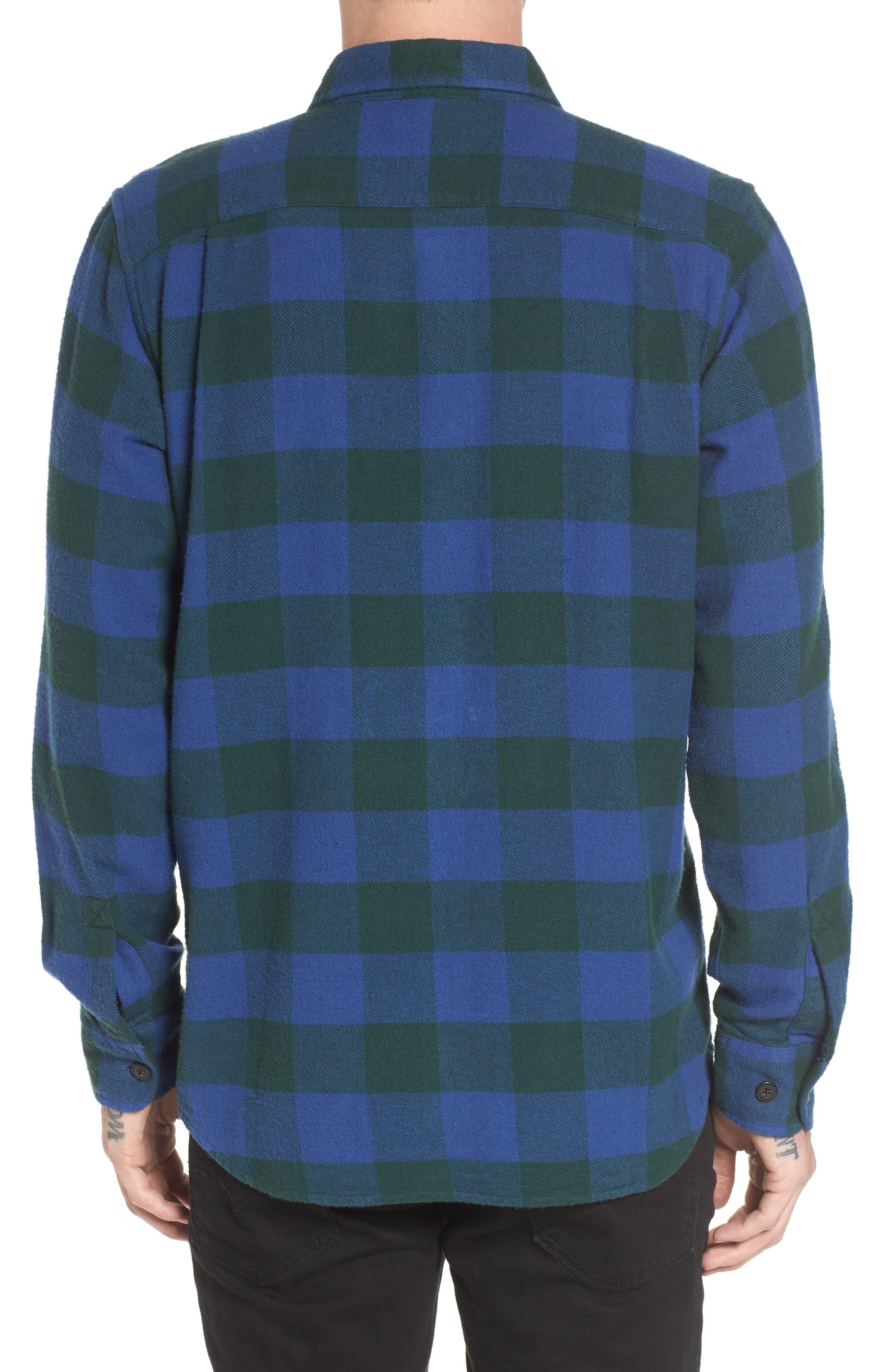 Trent Check Woven Shirt,                             Alternate thumbnail 2, color,                             Navy Multi