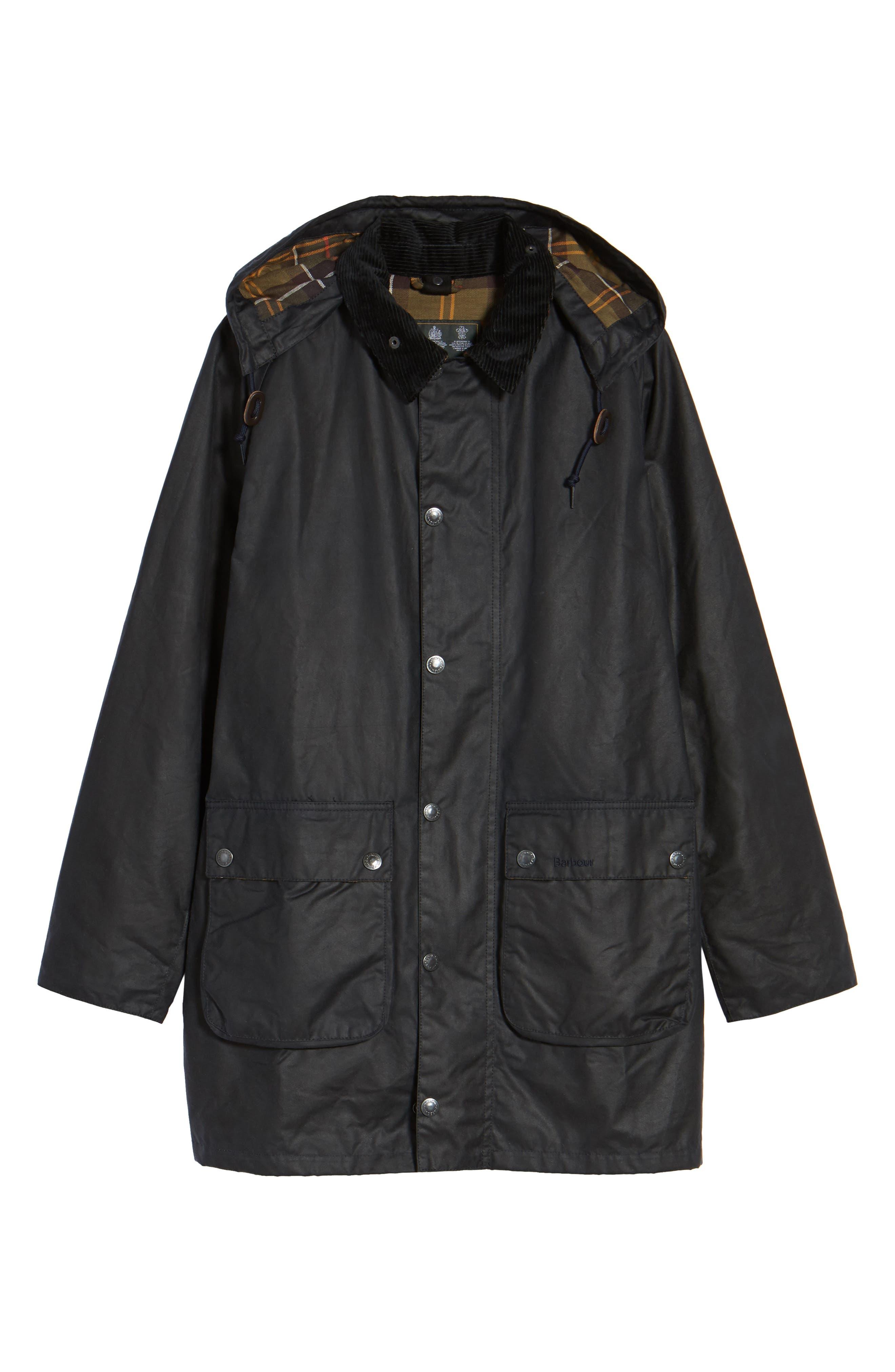 Leighton Waxed Cotton Jacket,                             Alternate thumbnail 6, color,                             Navy