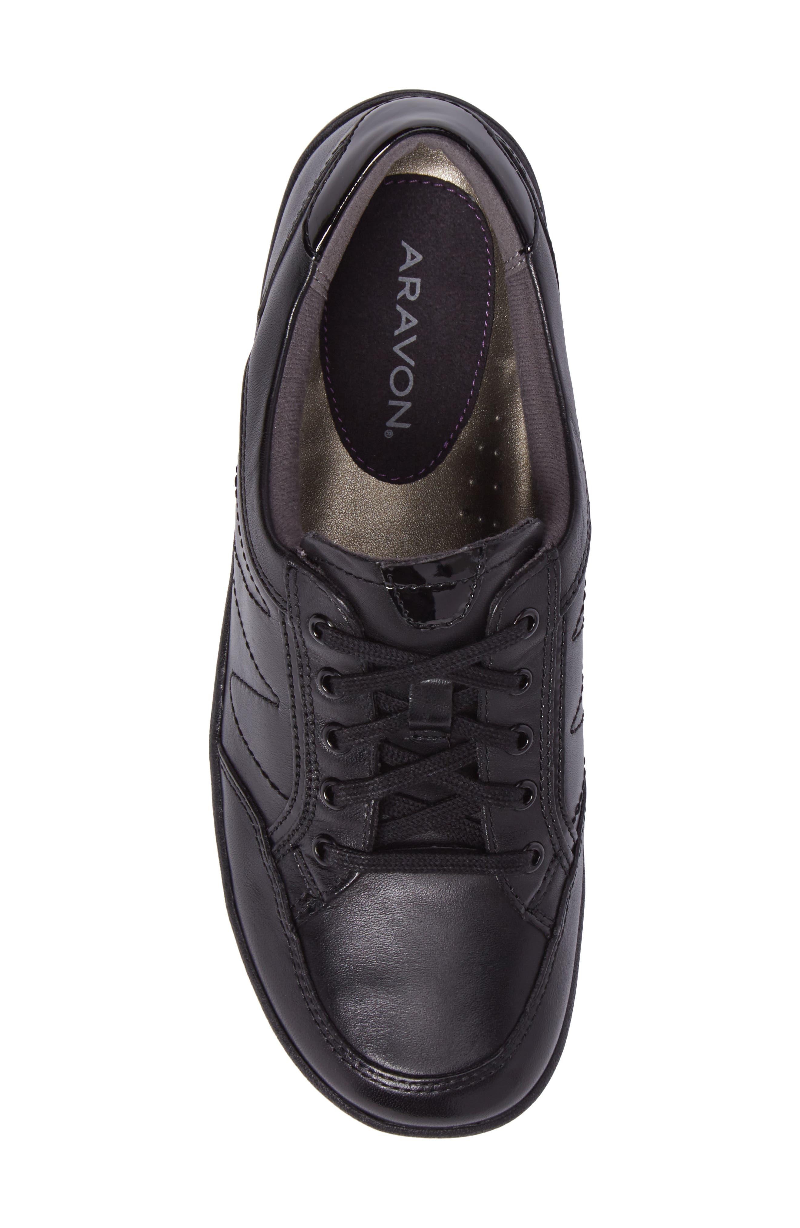 Bromly Sneaker,                             Alternate thumbnail 5, color,                             Black Leather