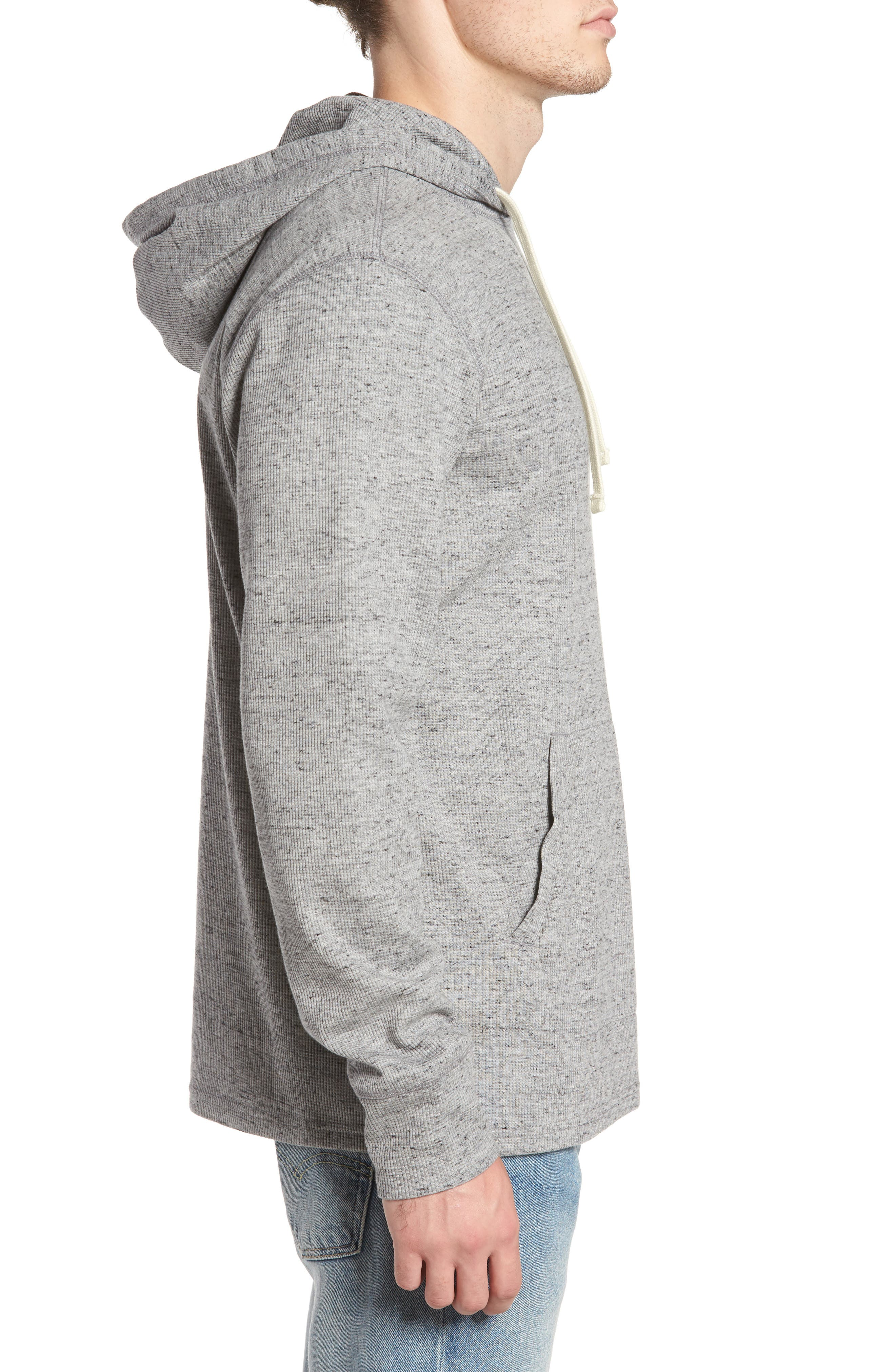Boldin Thermal Pullover Hoodie,                             Alternate thumbnail 3, color,                             Light Grey