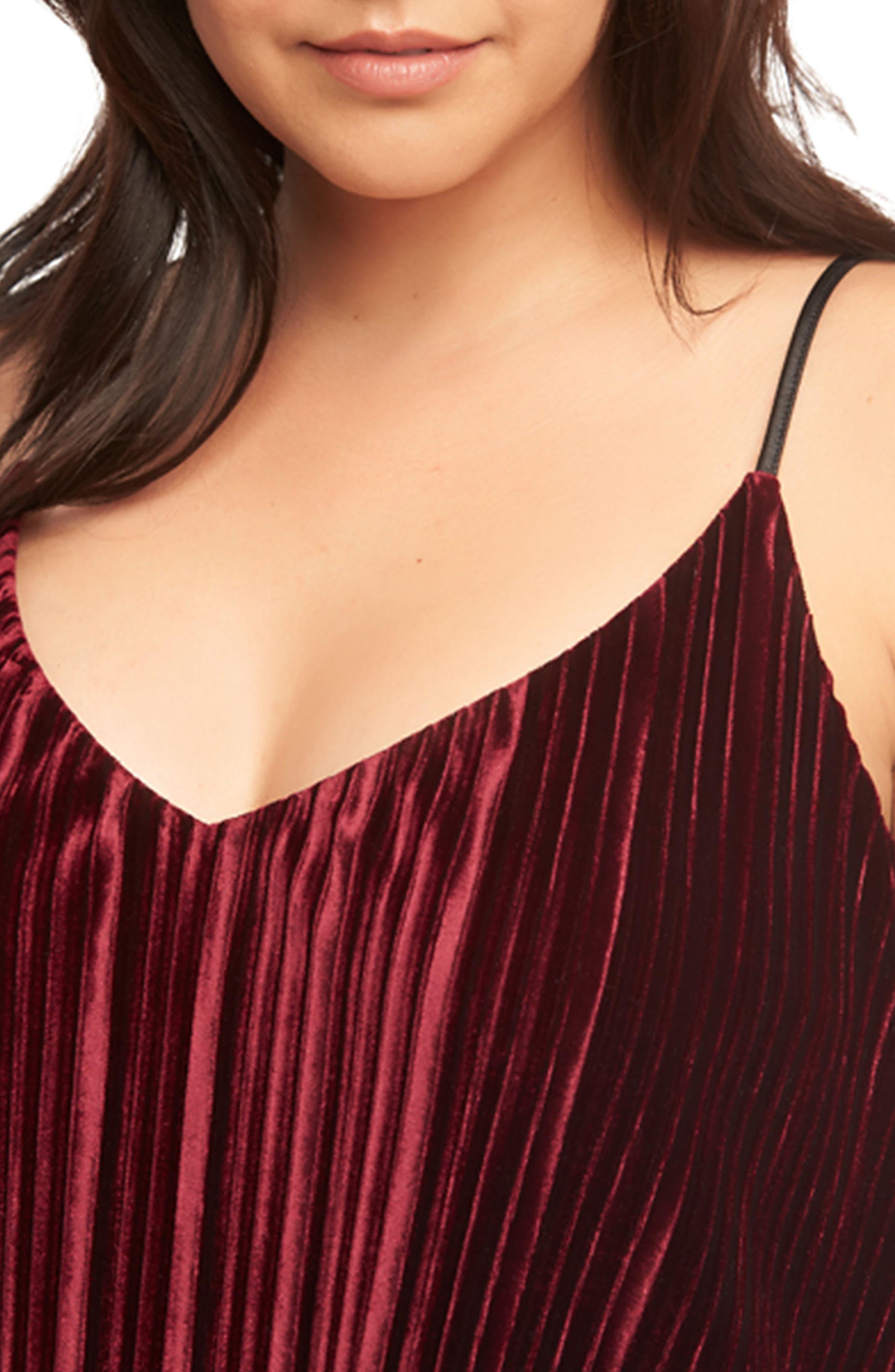 Alternate Image 4  - Tart Maren Pleat Velvet Camisole (Plus Size)