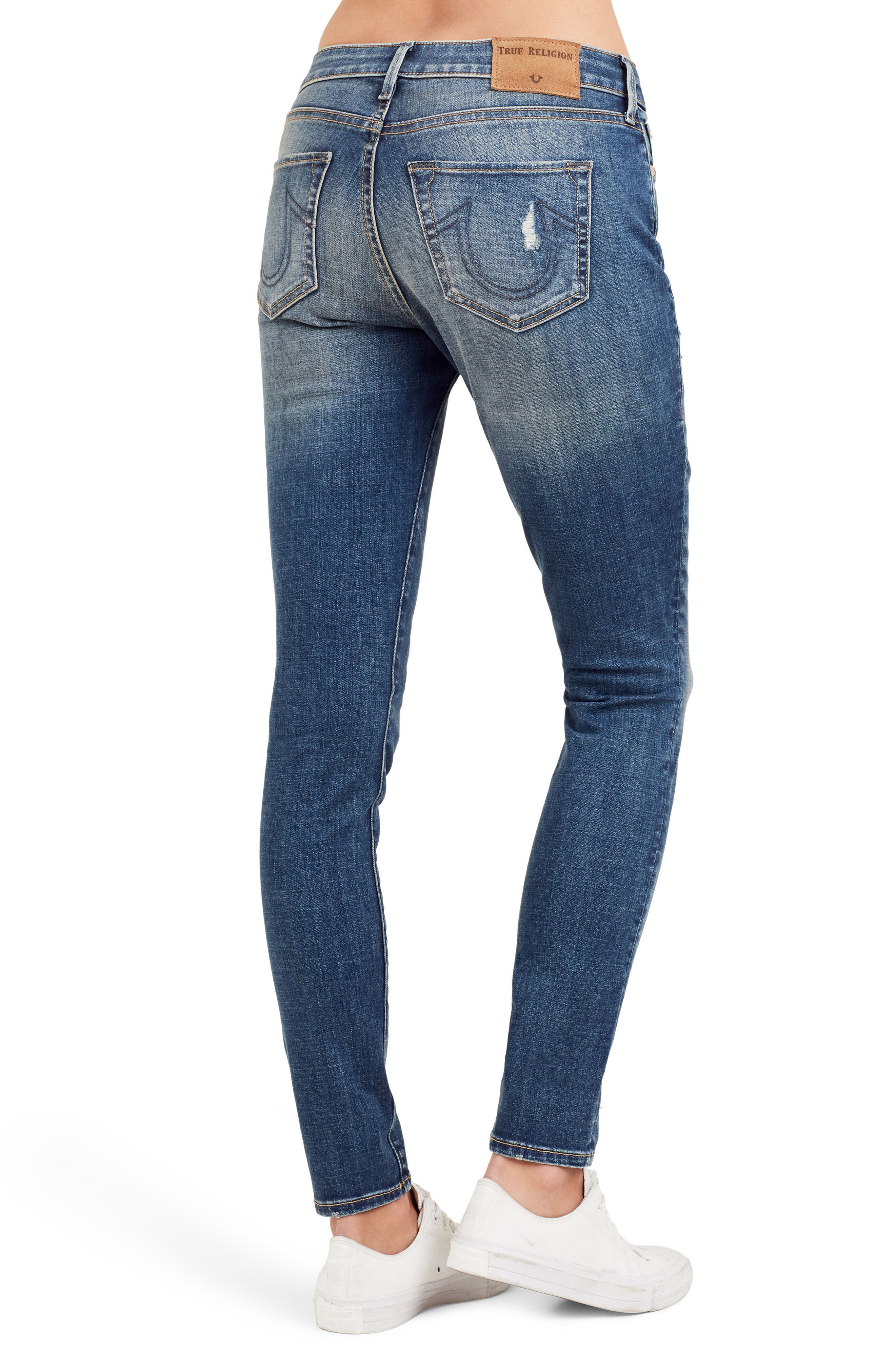 Alternate Image 3  - True Religion Brand Jeans Jennie Curvy Ankle Skinny Jeans (Bell Blues)
