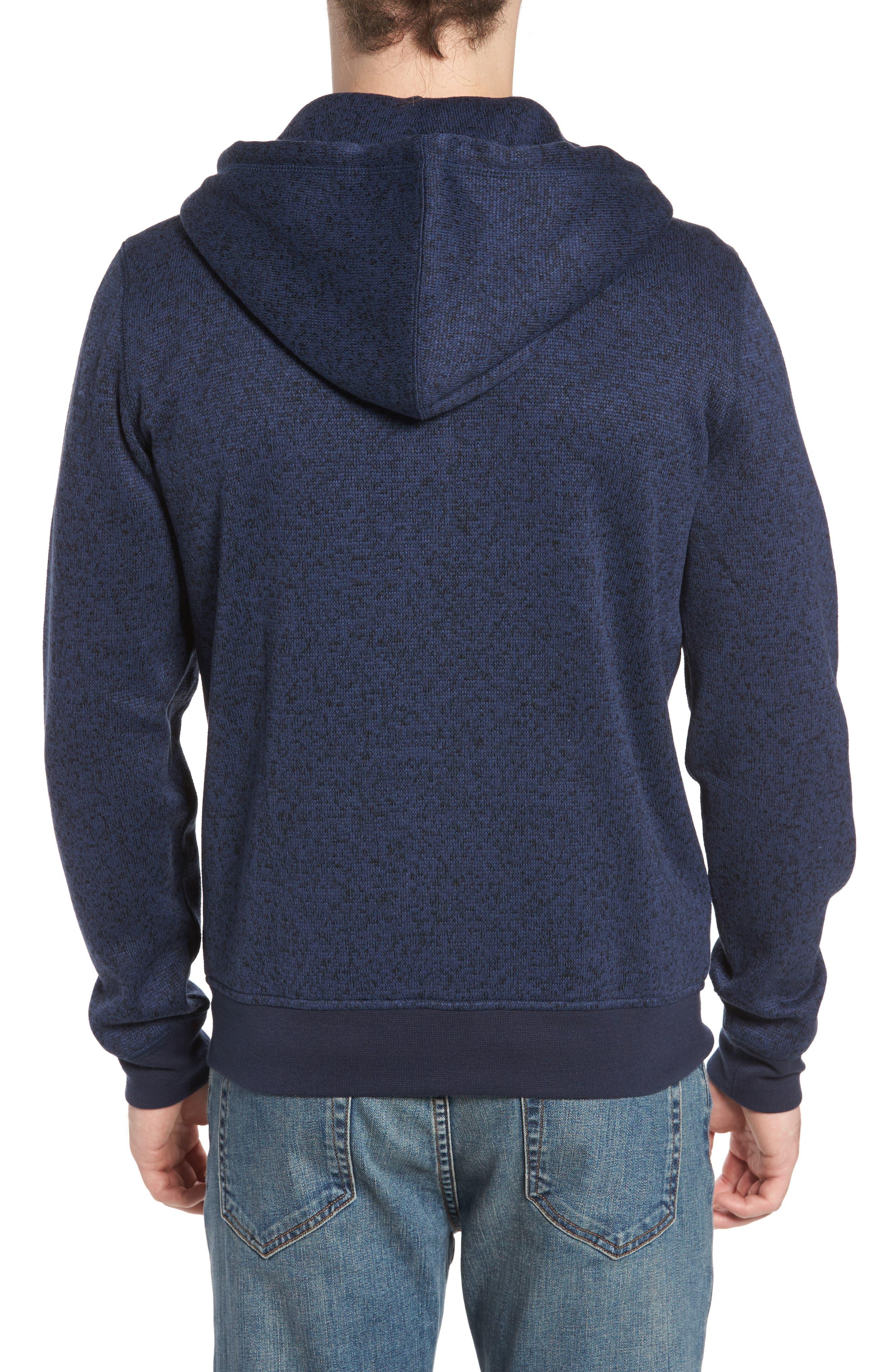 The Rail Zip Front Sweater Hoodie,                             Alternate thumbnail 2, color,                             Blue Estate/ Black Marl