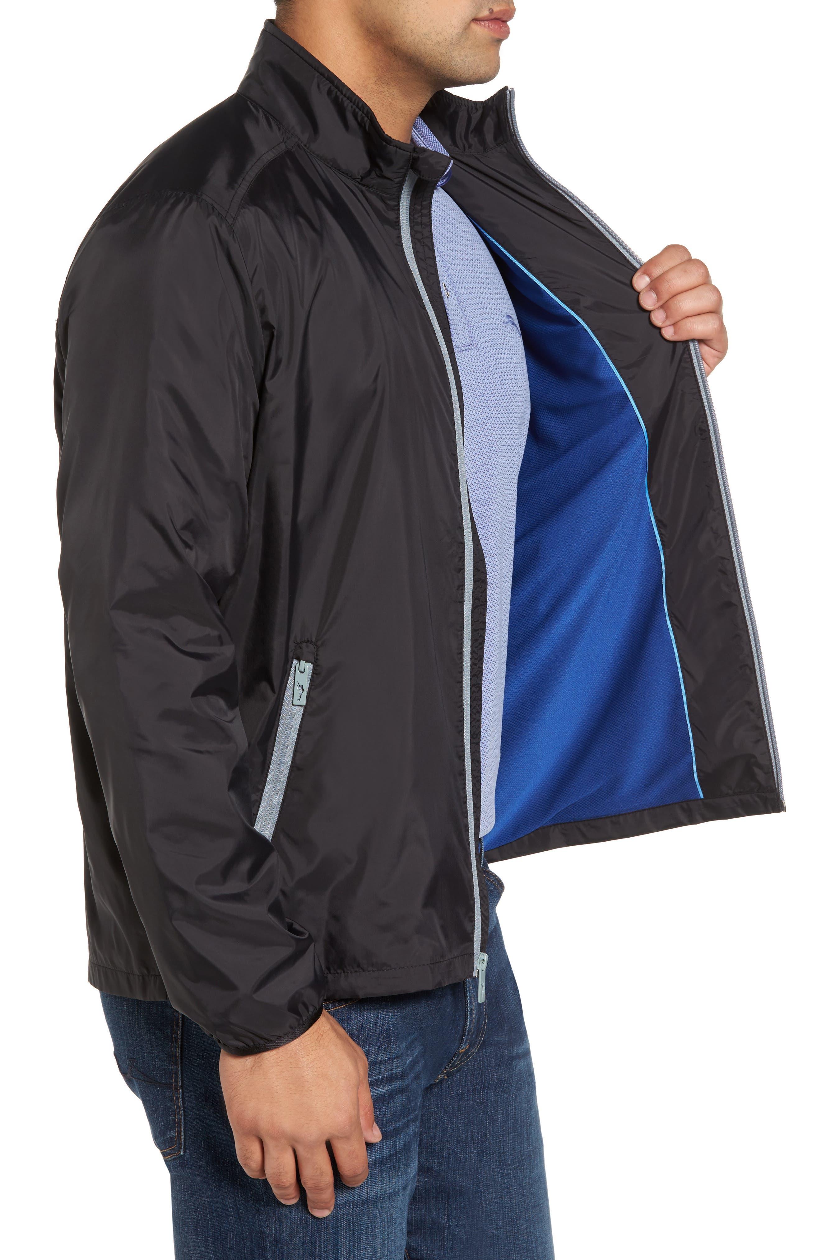 Nine Iron Water-Repellent Jacket,                             Alternate thumbnail 3, color,                             Black