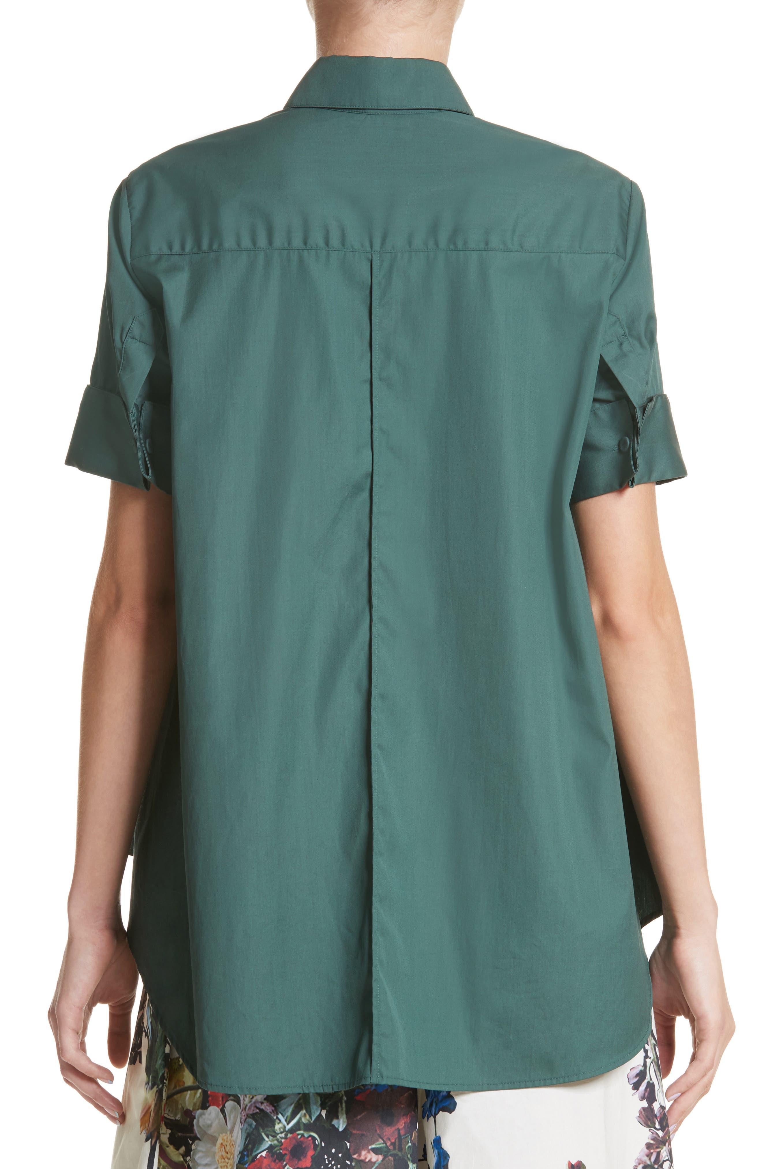 Alternate Image 3  - Adam Lippes Cotton Poplin Trapeze Shirt