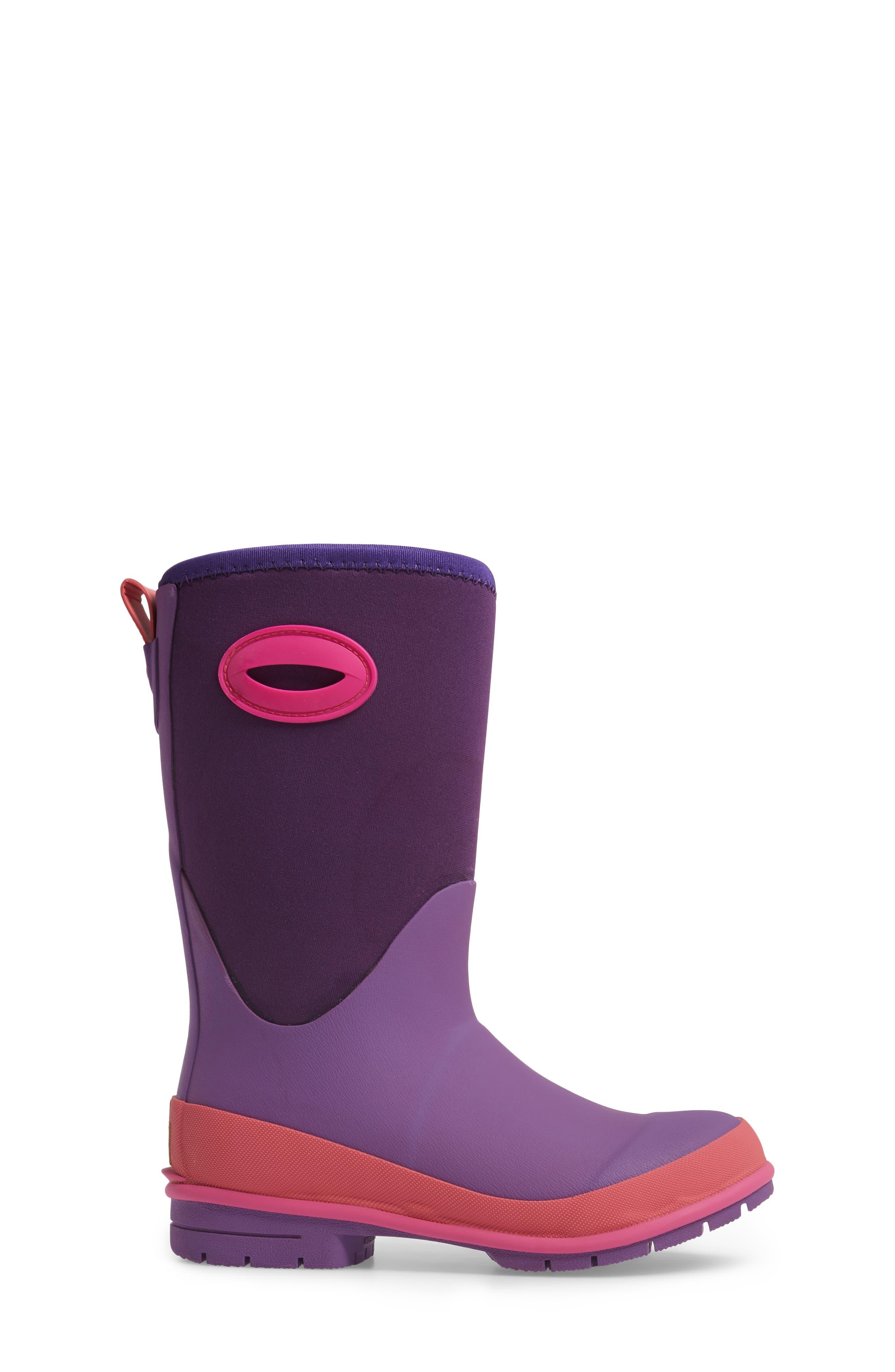 Neoprene Purple Snow Boot,                             Alternate thumbnail 3, color,                             Purple