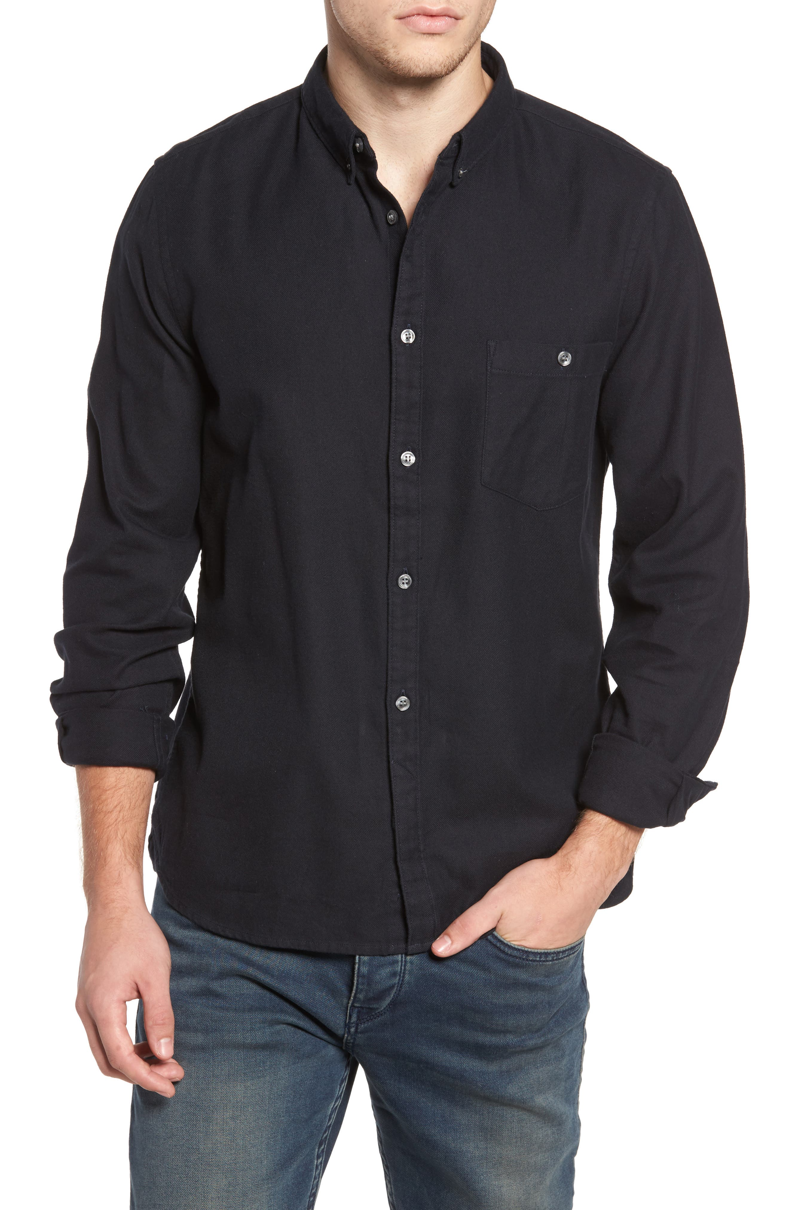 Main Image - French Connection Regular Fit Flannel Sport Shirt