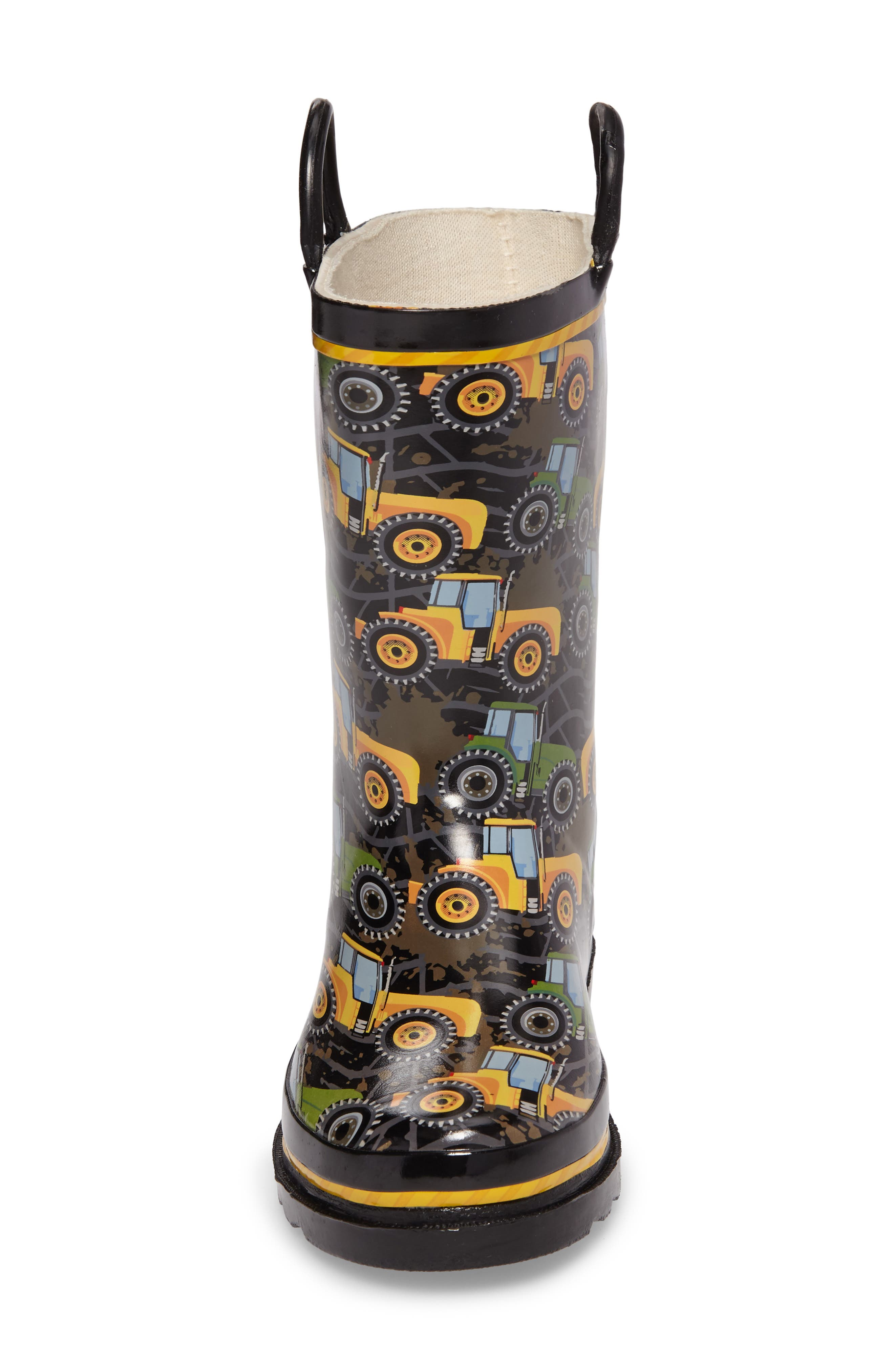 Tractor Tough Rain Boot,                             Alternate thumbnail 4, color,                             Black