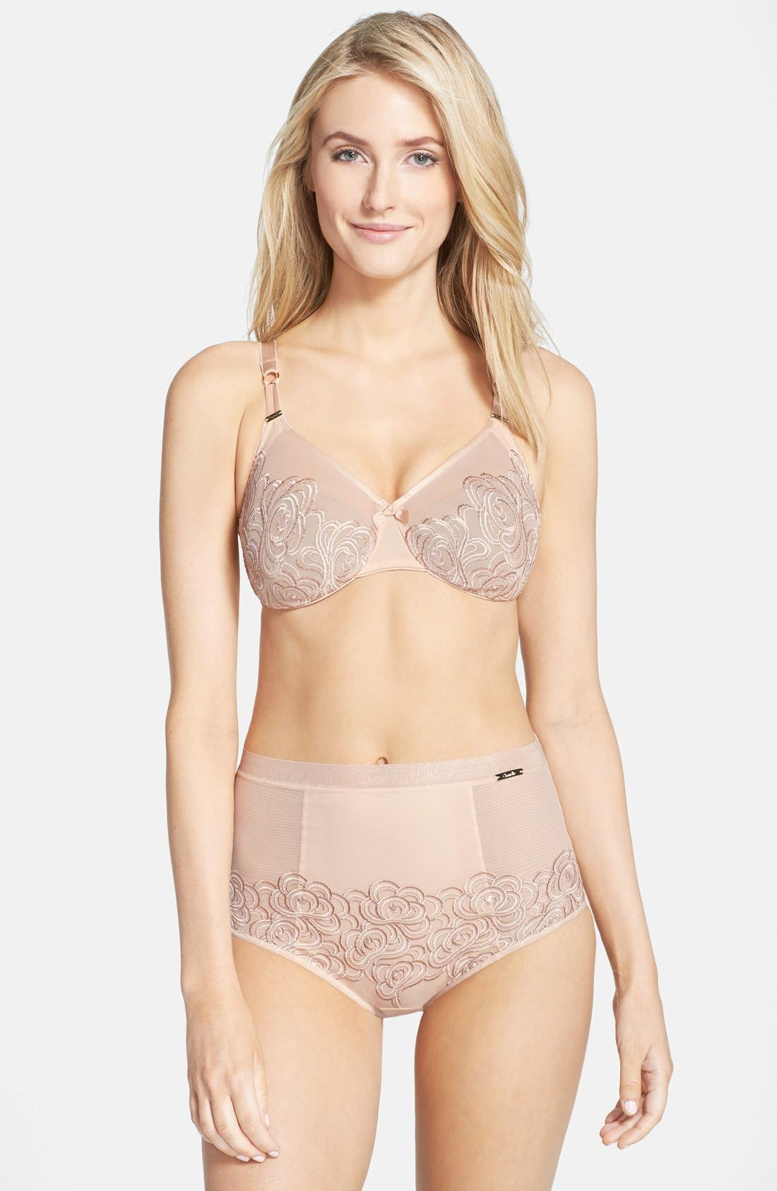Alternate Image 2  - Chantelle Intimates 'Barocco' Embroidered Sheer Underwire Molded Bra (D-Cup & Up)