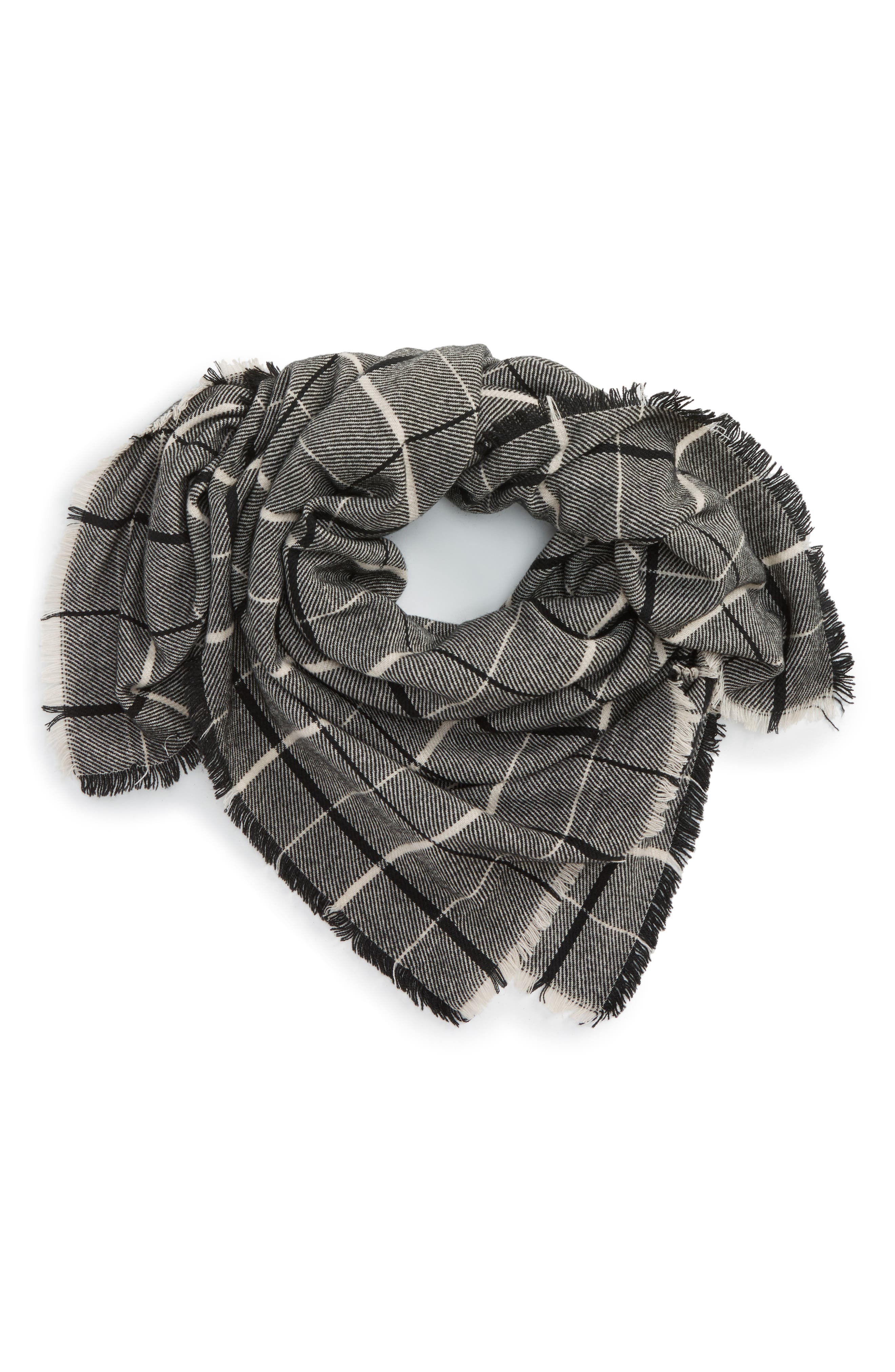 Alternate Image 1 Selected - BP. Twill Stripe Square Scarf