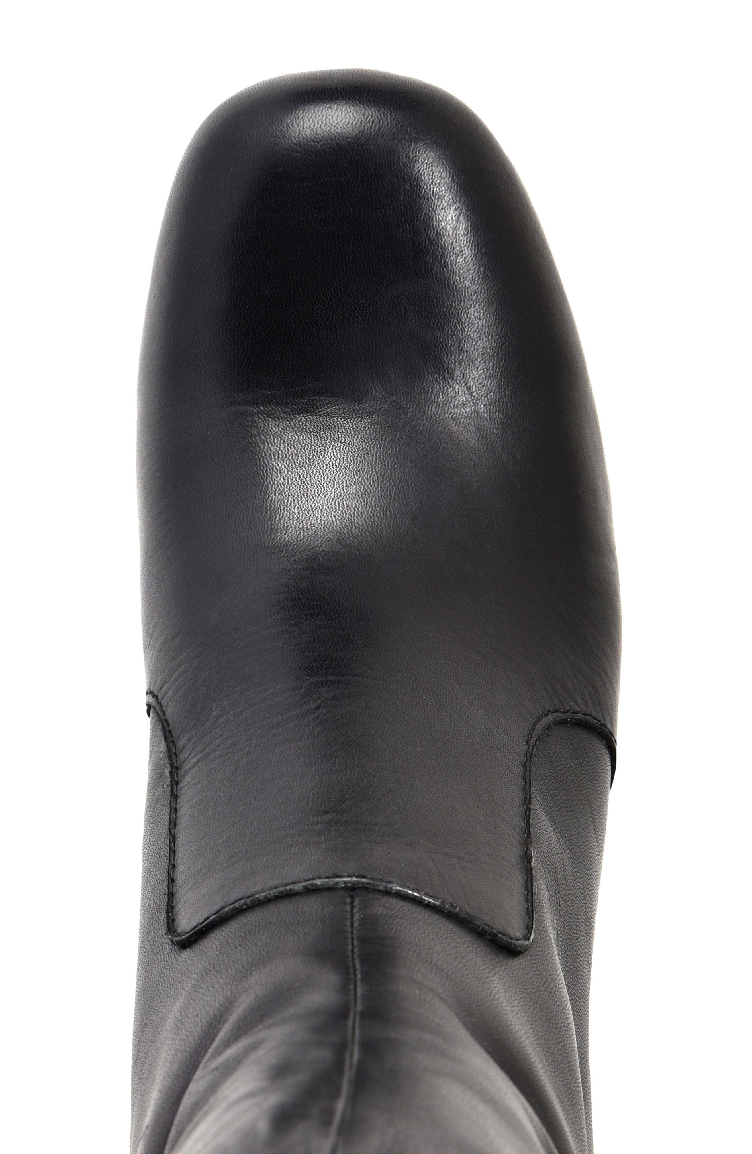 Florence Bootie,                             Alternate thumbnail 5, color,                             Black Leather