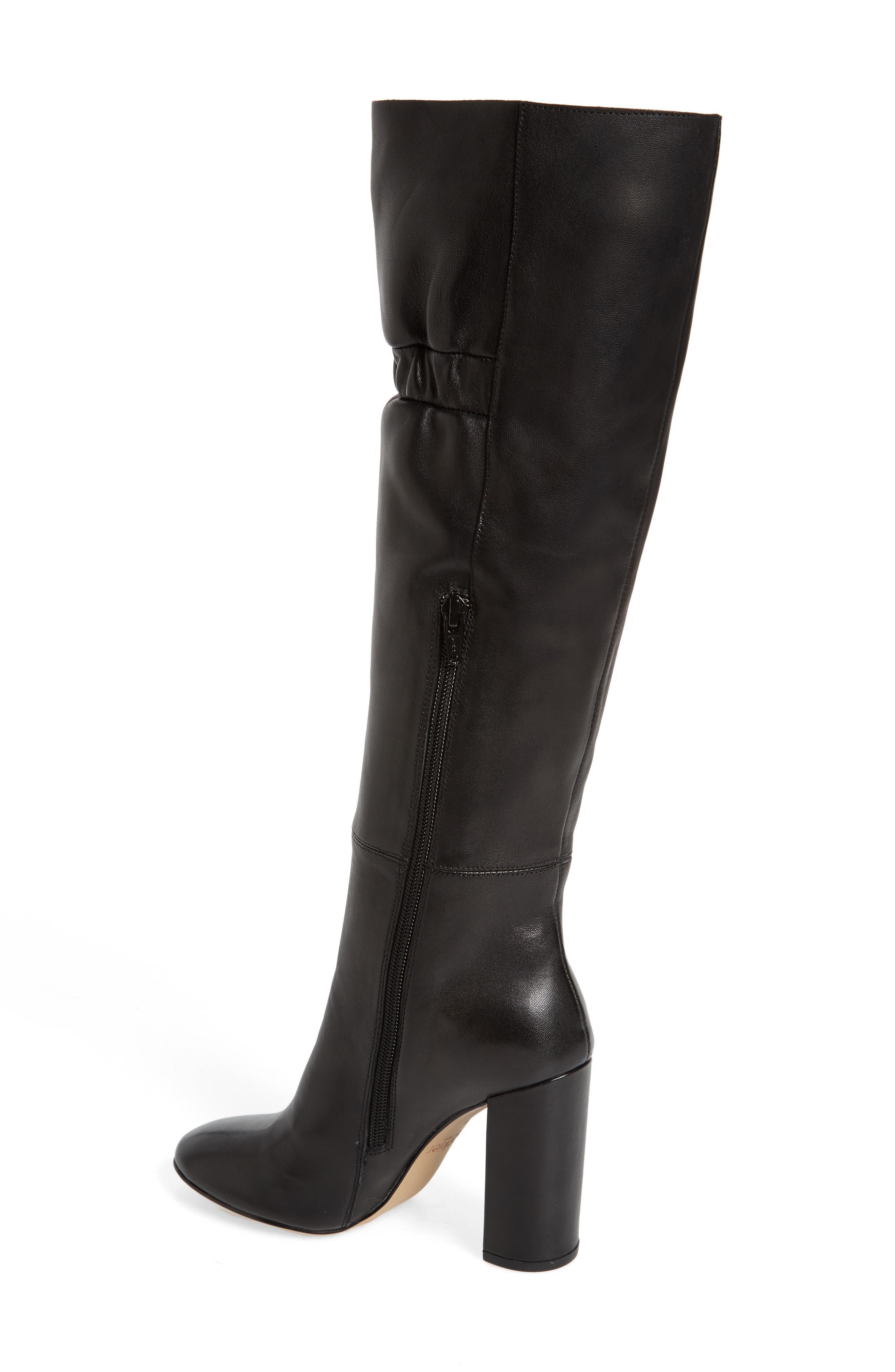 Ruby Knee High Boot,                             Alternate thumbnail 2, color,                             Black Leather