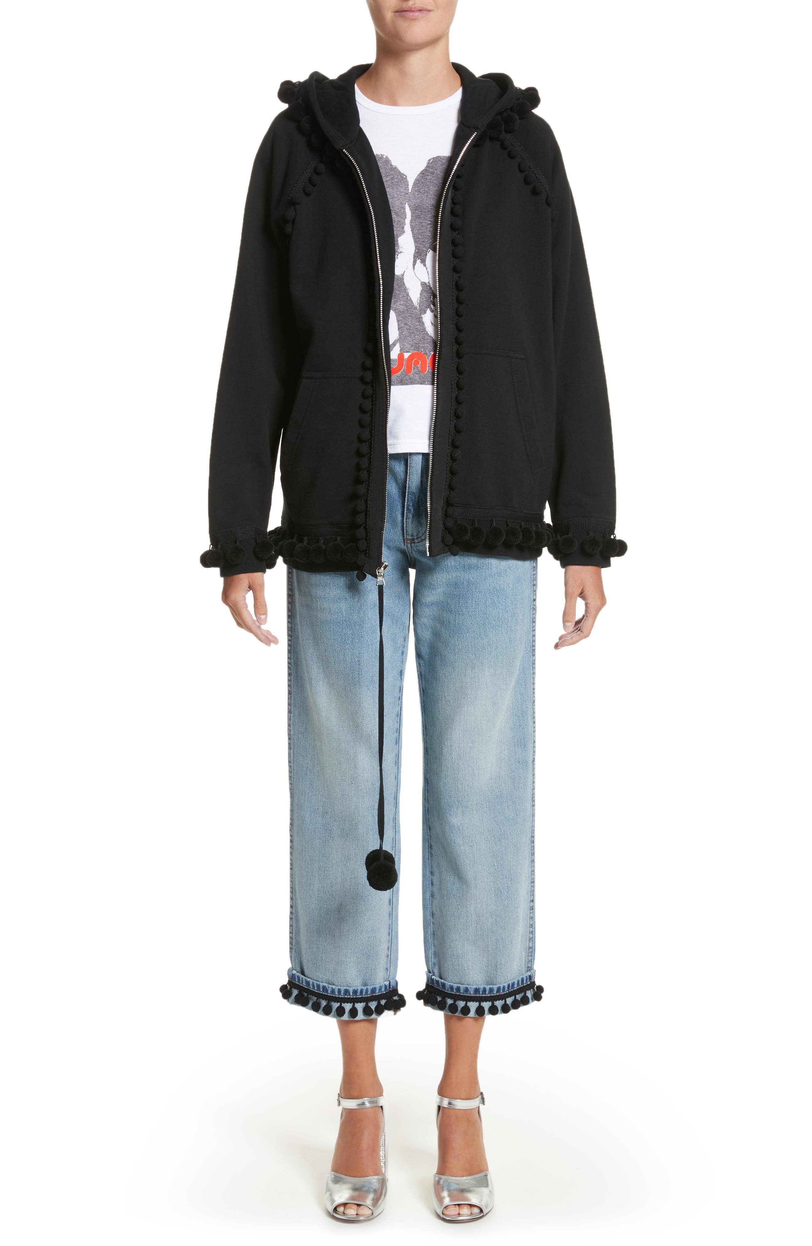 Alternate Image 8  - MARC JACOBS Pom Trim Crop Jeans