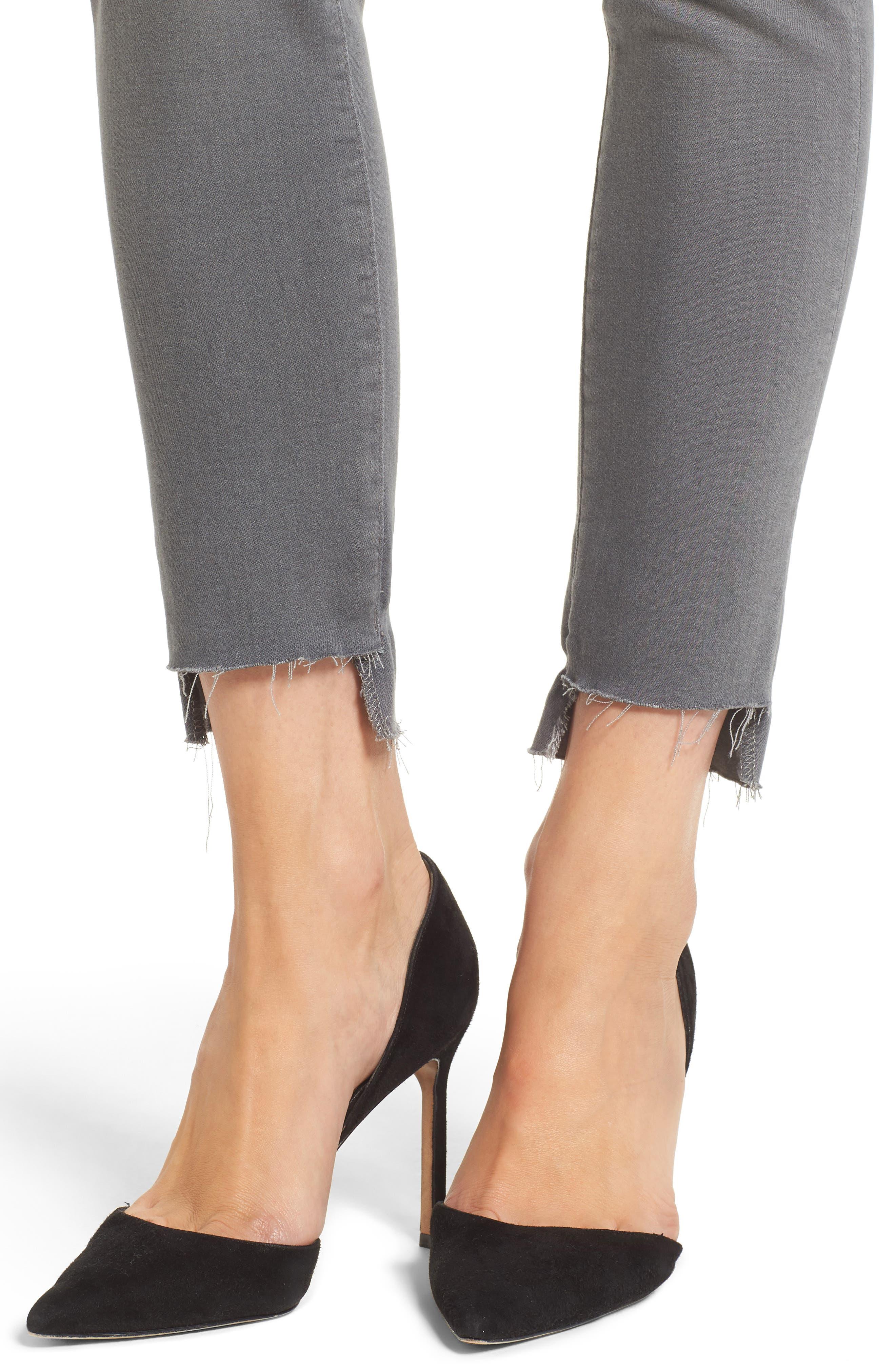 Farrah High Waist Ankle Skinny Jeans,                             Alternate thumbnail 4, color,                             10 Years Grey Shadow
