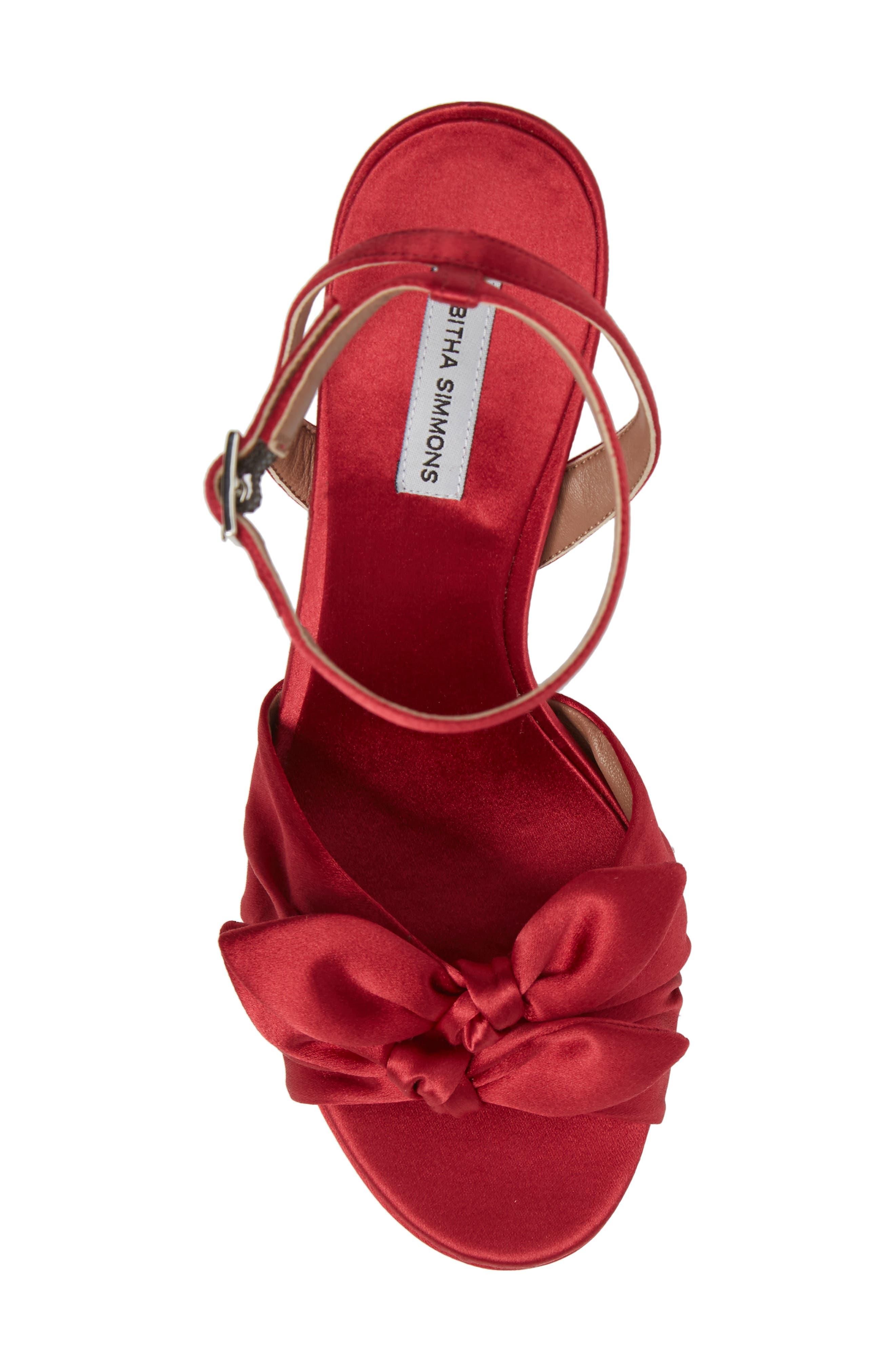 Jodie Platform Sandal,                             Alternate thumbnail 5, color,                             Red