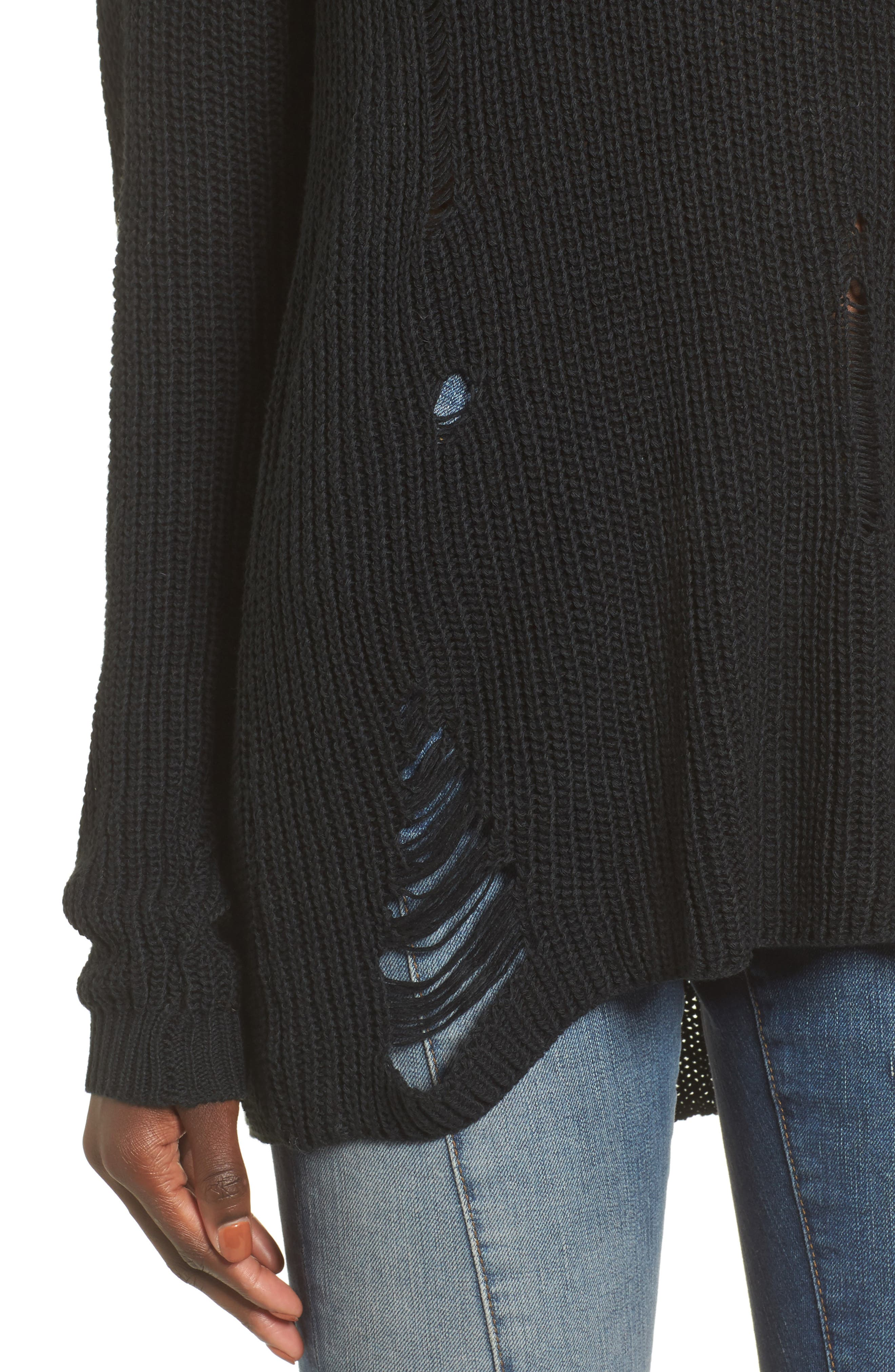 Cyndi Sweater,                             Alternate thumbnail 5, color,                             Black