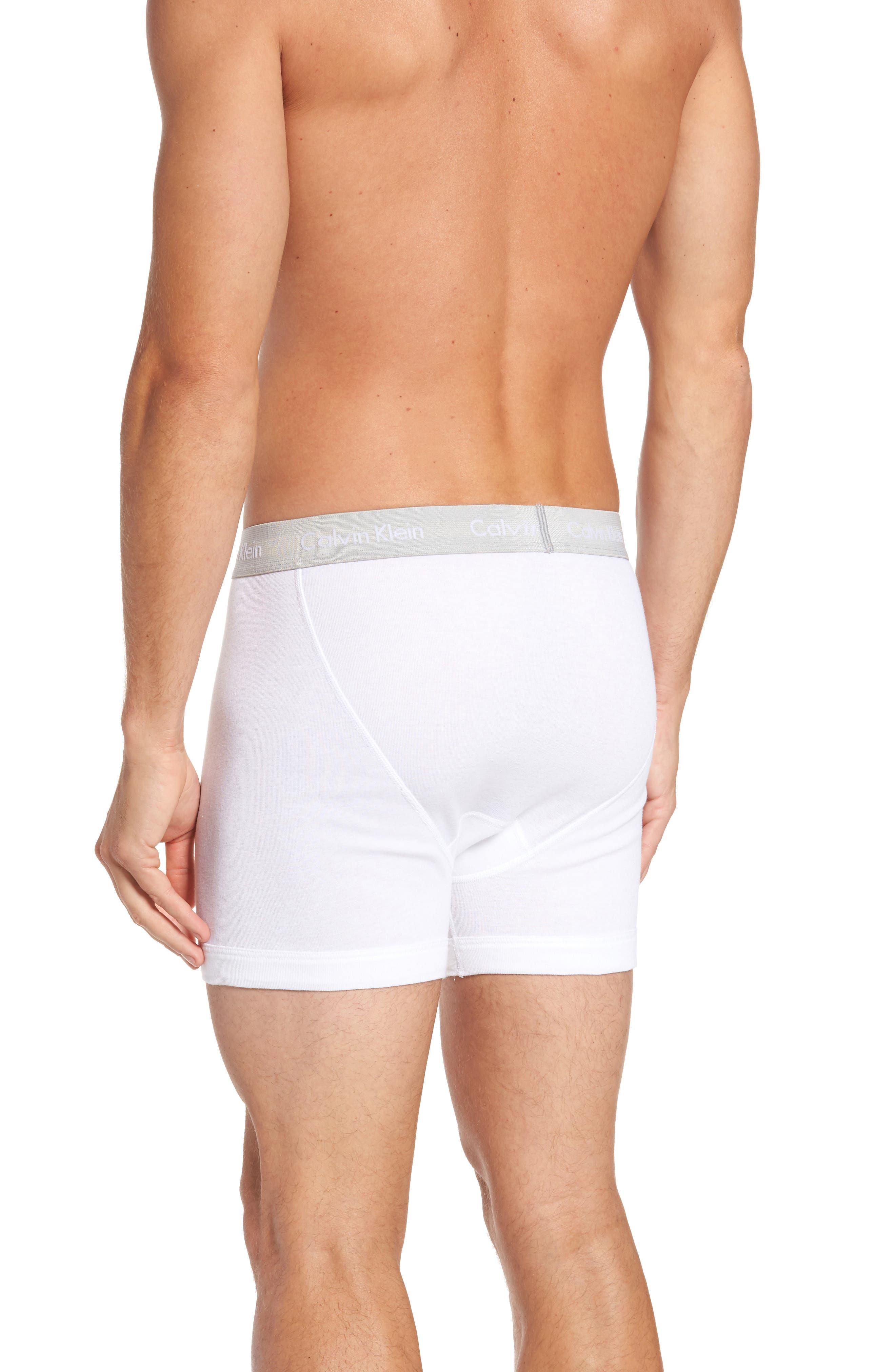 Alternate Image 3  - Calvin Klein Classic 4-Pack Cotton Boxer Briefs