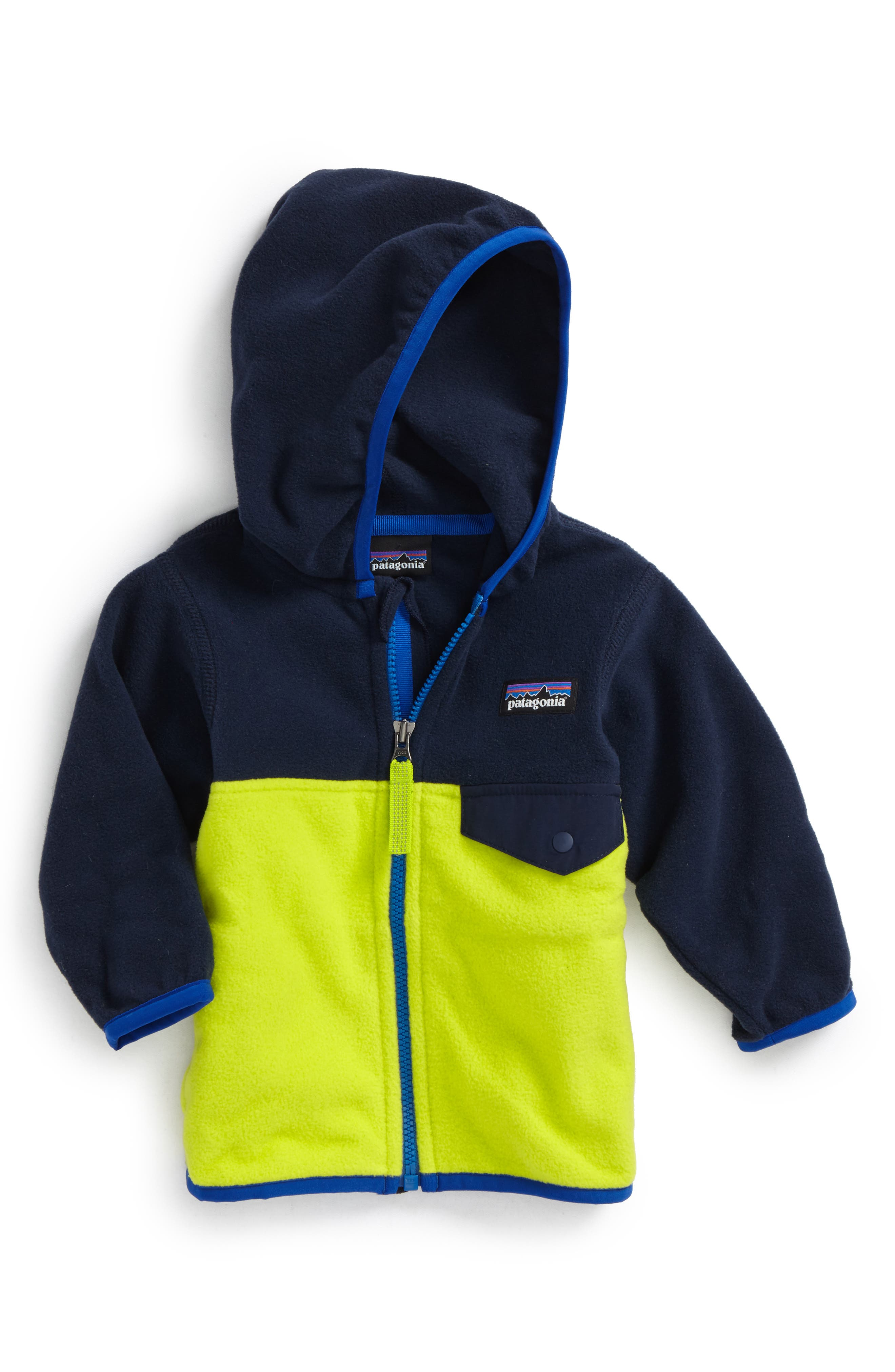 Alternate Image 1 Selected - Patagonia Micro D® Snap-T® Fleece Jacket (Baby Boys)
