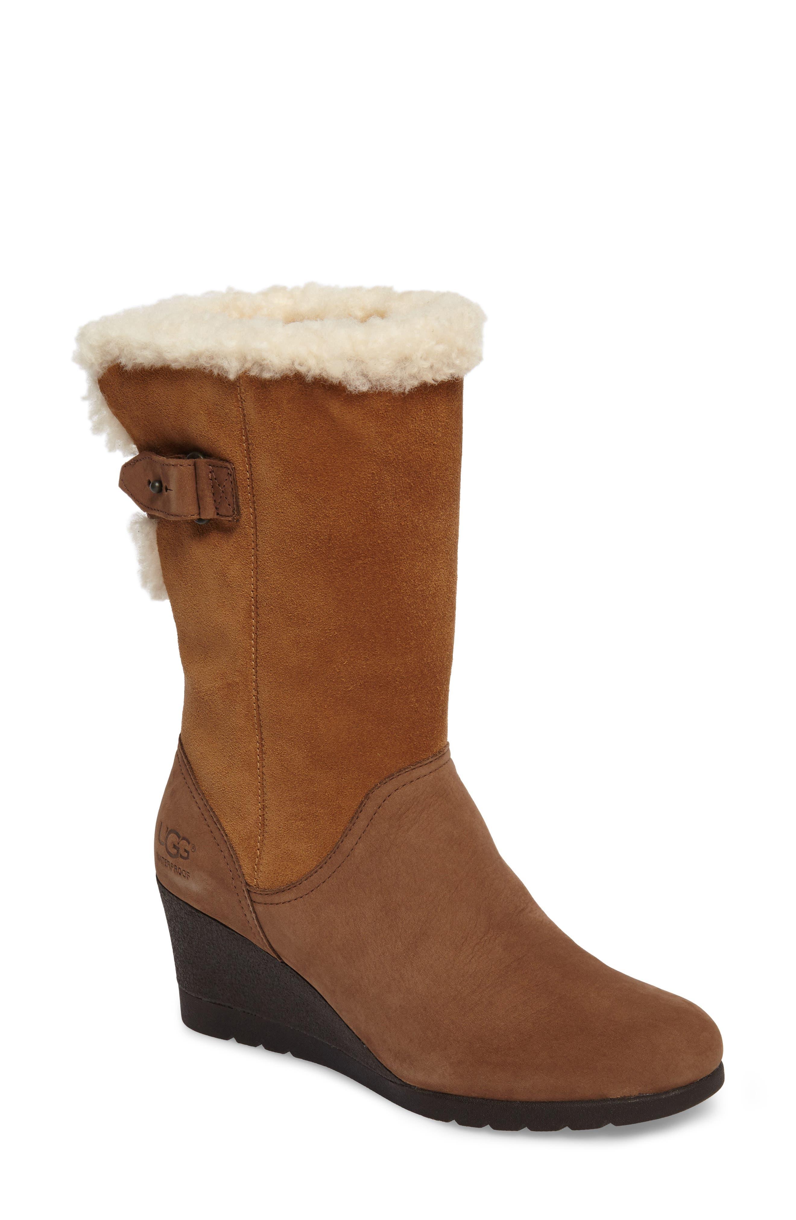 Alternate Image 1 Selected - UGG® Edelina Waterproof Wedge Boot (Women)